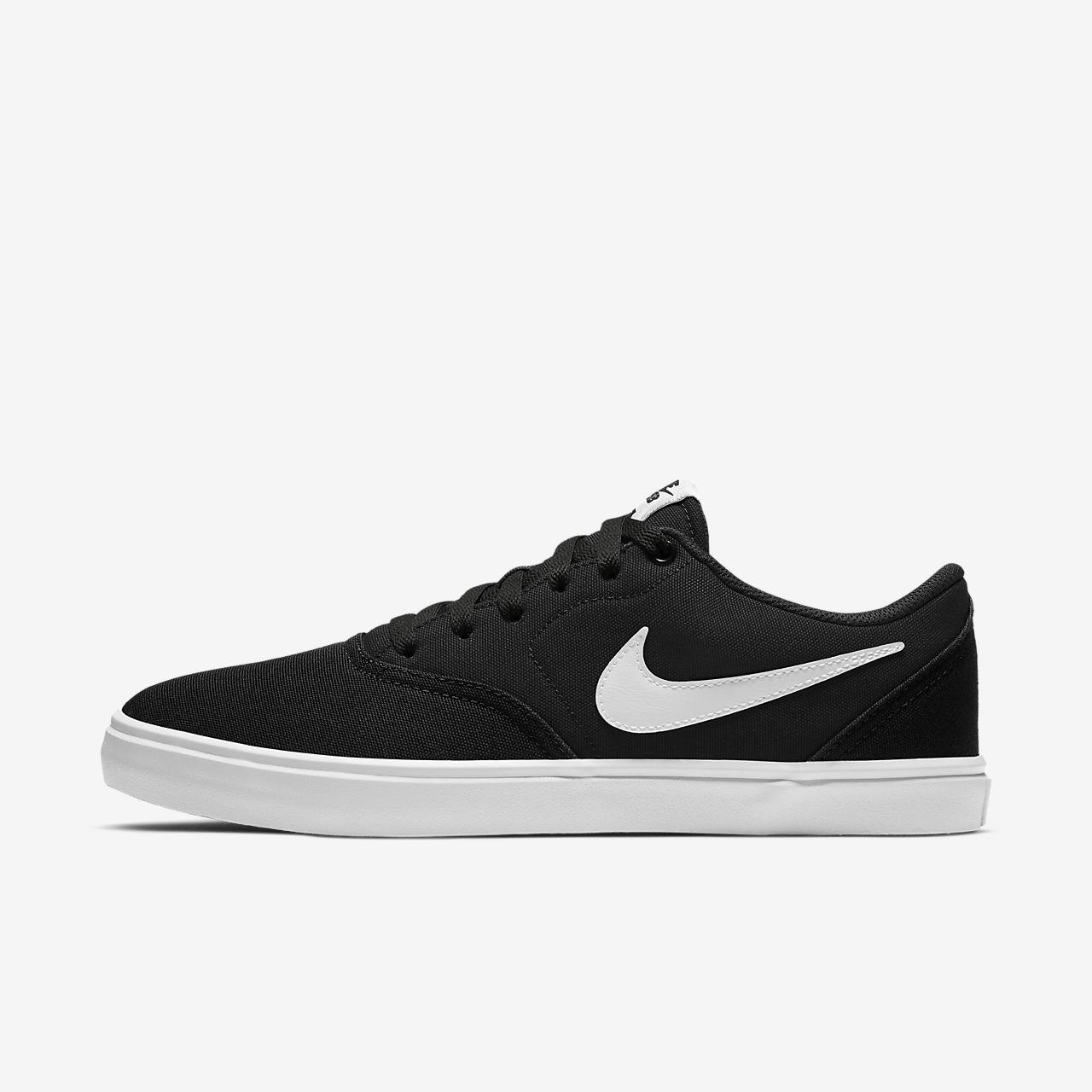 Nike SB Check Solarsoft Canvas Men's Skateboarding Shoes Black/White