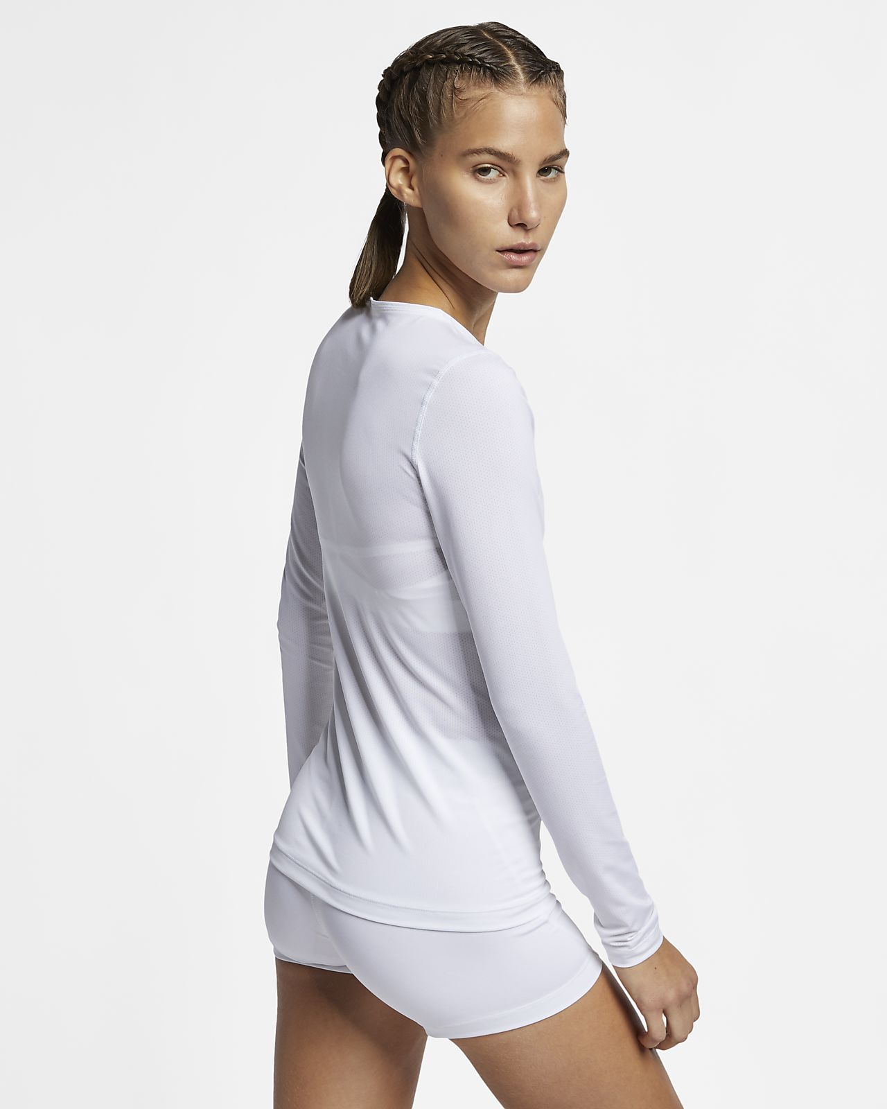 eb156dd091f29e Nike Pro Women's Long-Sleeve Mesh Top. Nike.com