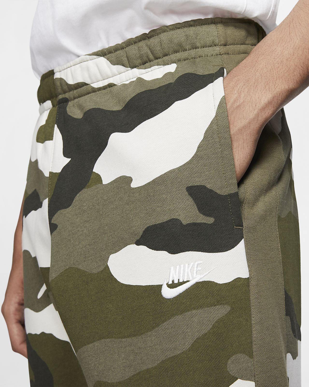 98e5ca1b1 ... Pánské maskáčové běžecké kalhoty Nike Sportswear Club z francouzského  froté