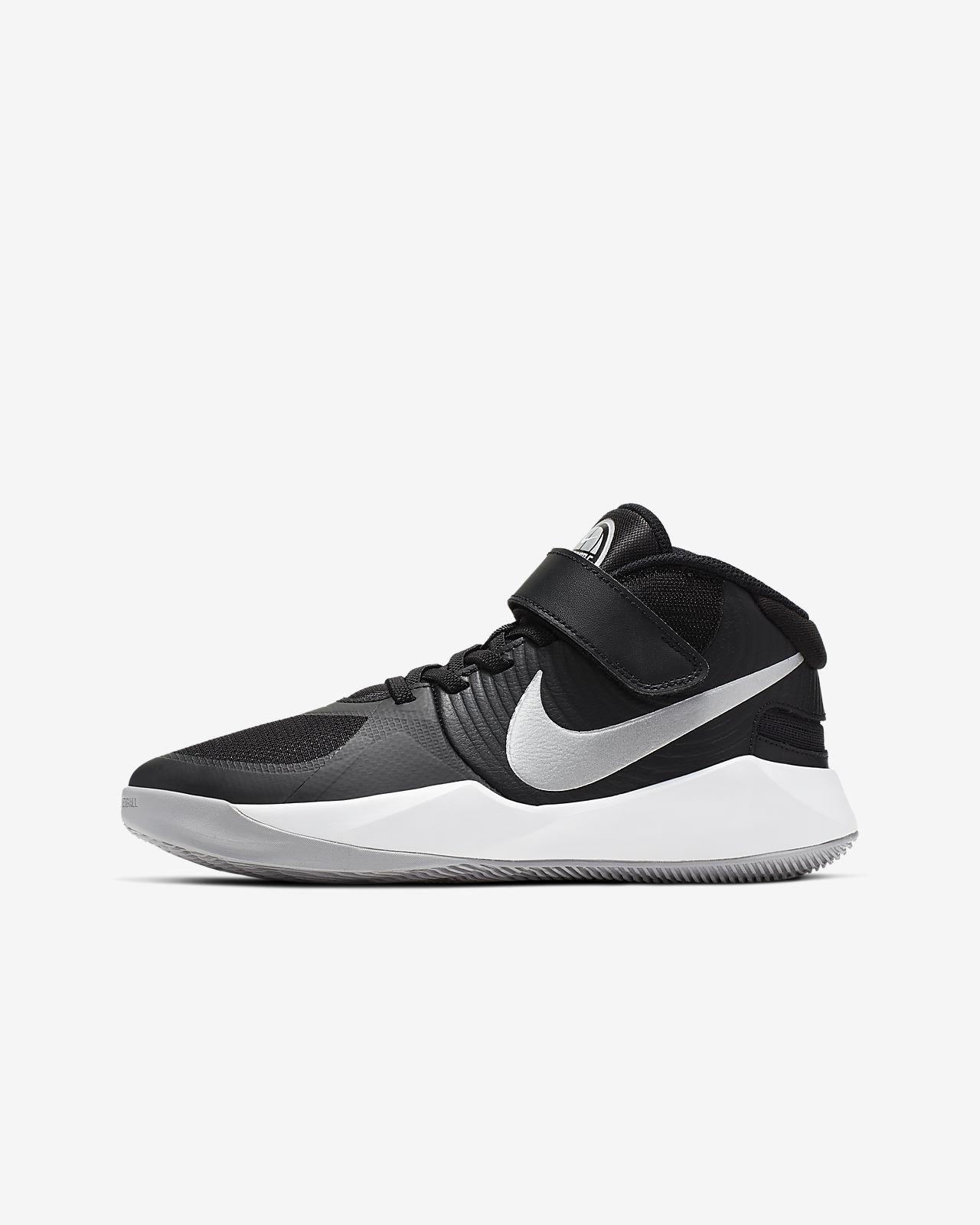 Nike Team Hustle D 9 FlyEase-basketballsko til store børn