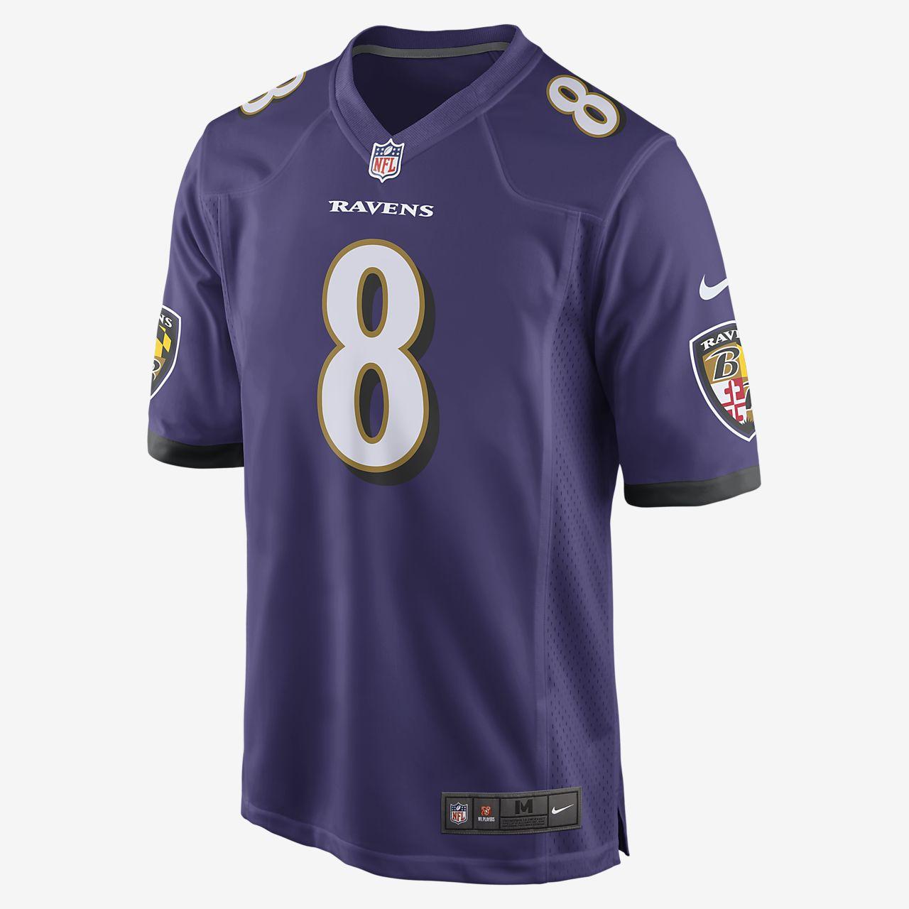 Camiseta de fútbol americano para hombre NFL Baltimore Ravens Game (Lamar Jackson)