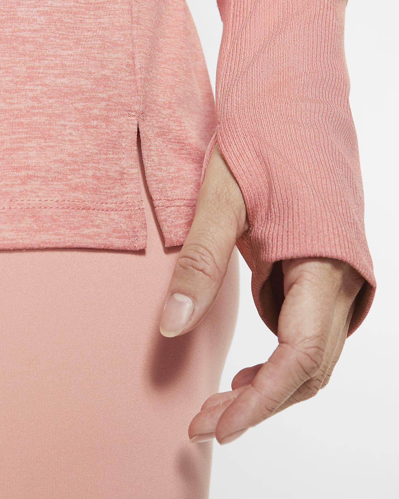 Women's Dri FIT Element Quarter Zip Pink