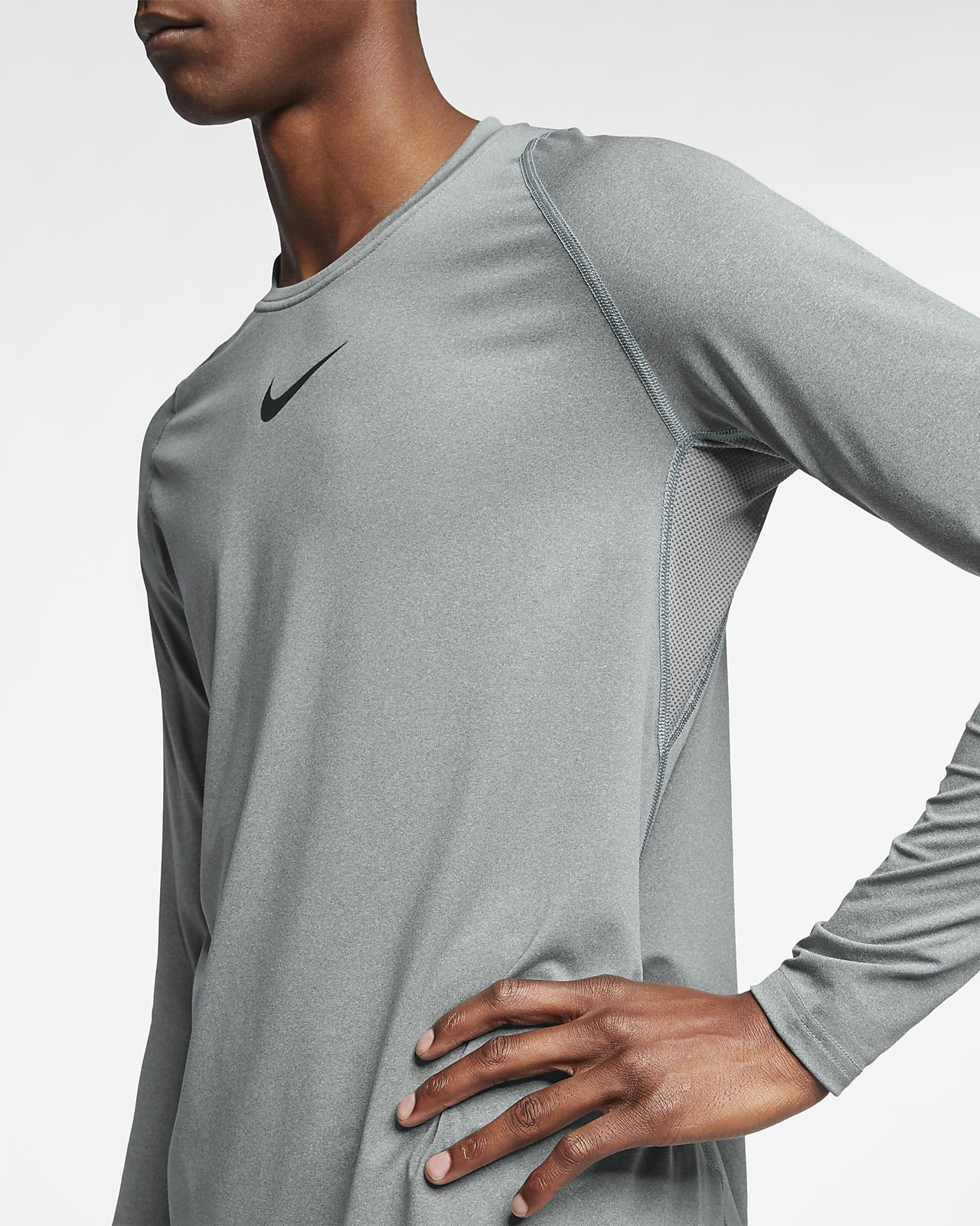 c3377f9bc236 Nike Pro Men s Long-Sleeve Fitted Top. Nike.com
