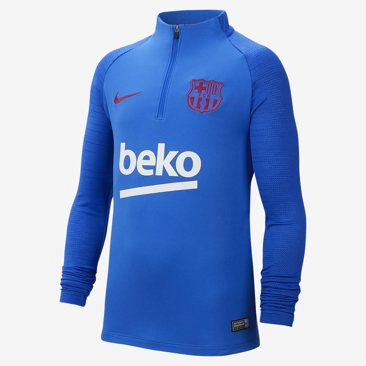 Ποδοσφαιρική μπλούζα προπόνησης Nike Dri-FIT FC Barcelona Strike για μεγάλα παιδιά