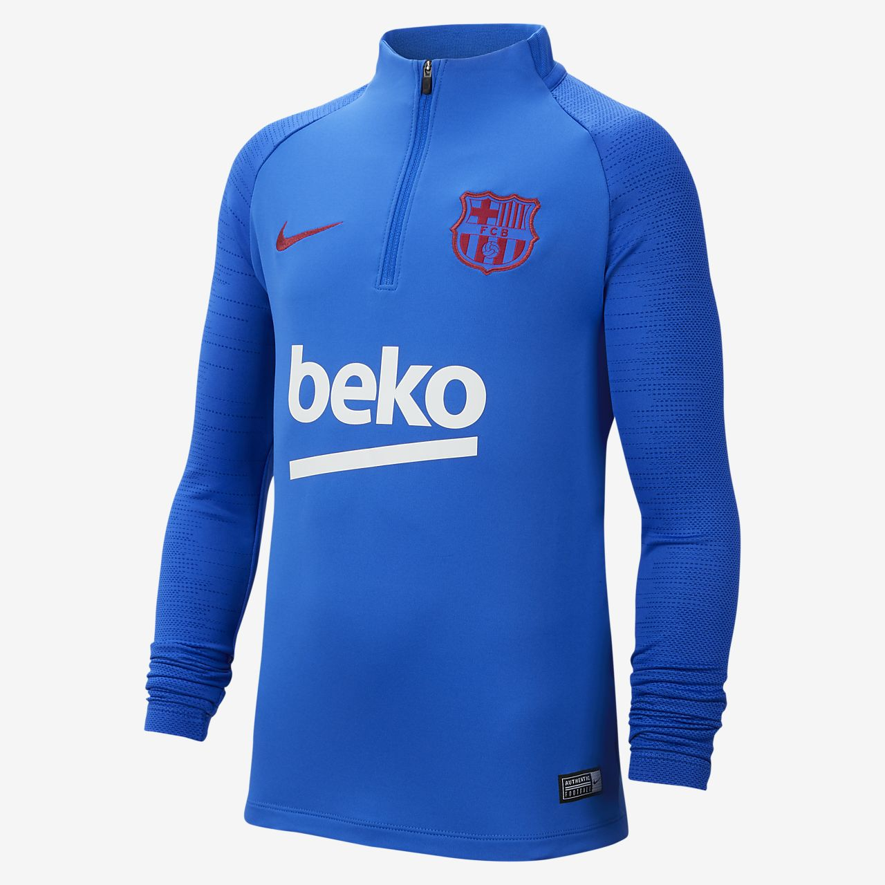 FC Barcelona Strike Older Kids' Football Drill Top