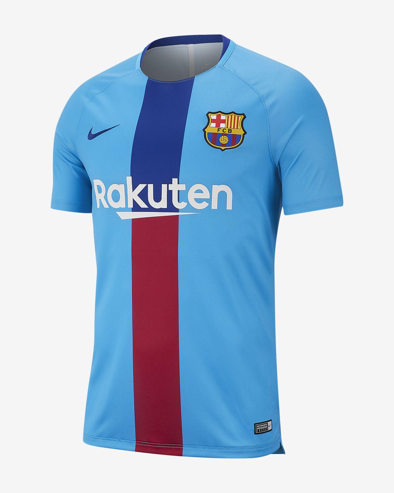Ανδρική κοντομάνικη ποδοσφαιρική μπλούζα με σχέδιο Nike Dri-FIT FC  Barcelona Squad c89da66ef31
