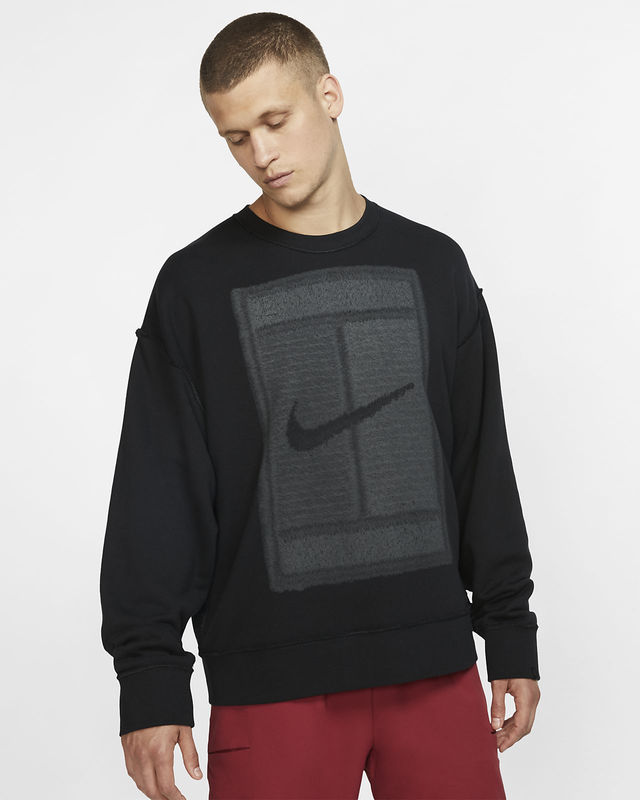 Camisola de ténis reversível em lã cardada NikeCourt para homem
