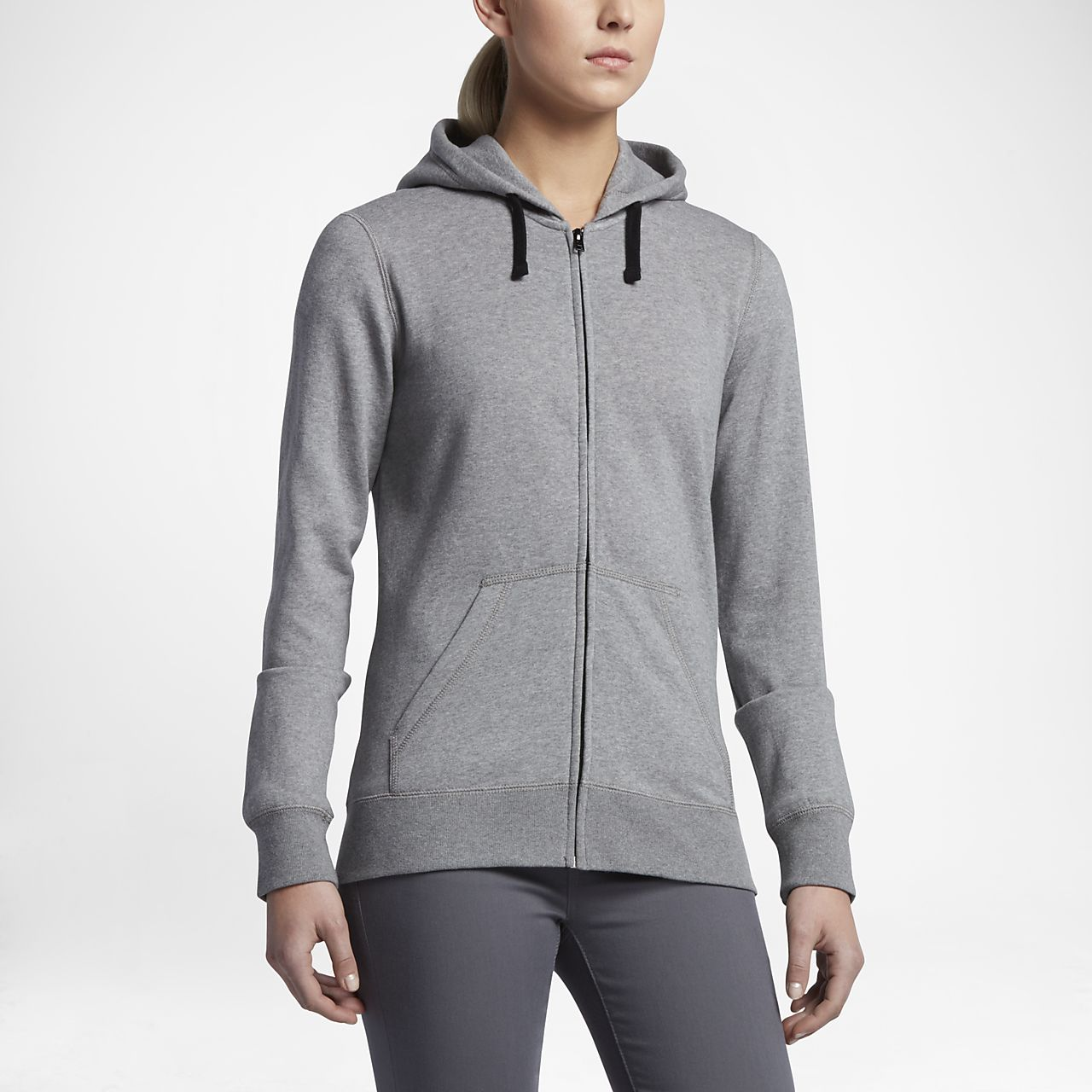 Hurley Solid Icon Zip Fleece Women's Hoodies Cool Grey