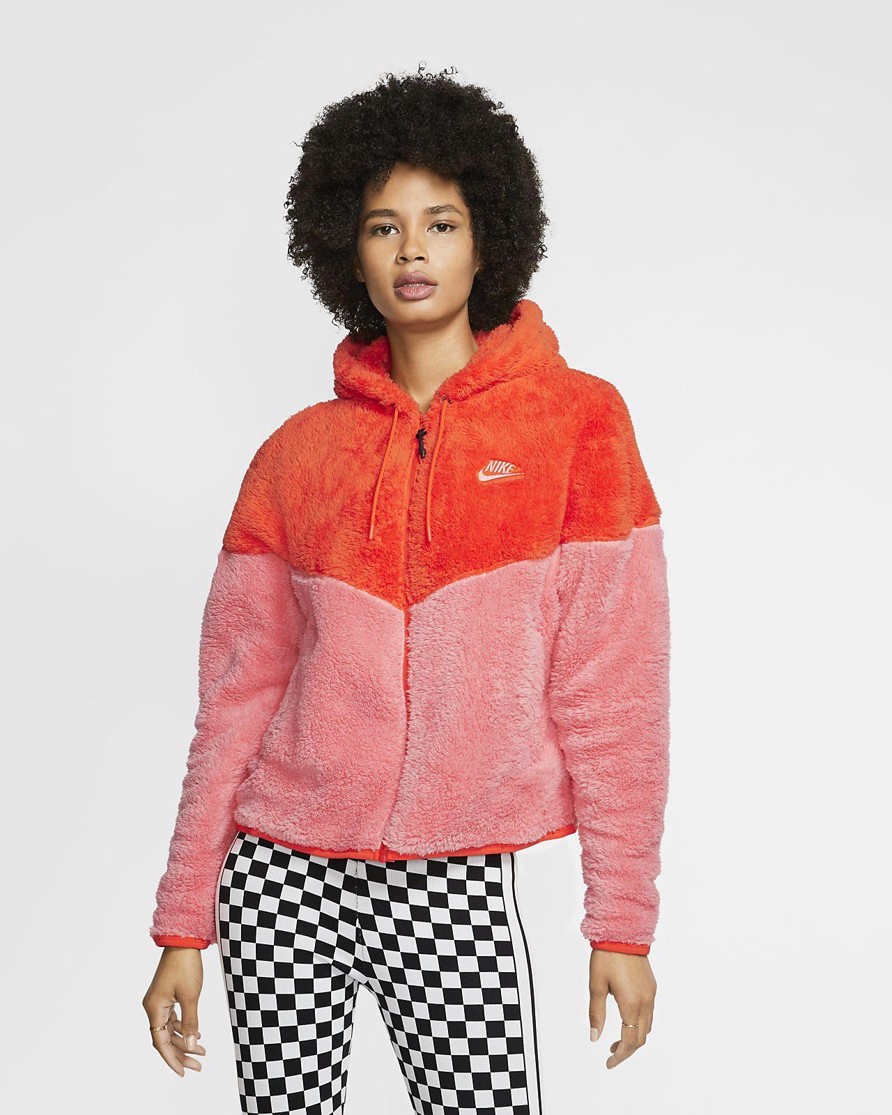 Jacka Nike Sportswear Windrunner i sherpamaterial för kvinnor