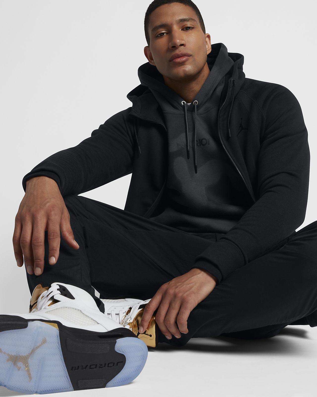 d34a1ad539f Pánská mikina s kapucí a dlouhým zipem Jordan Sportswear Wings Fleece