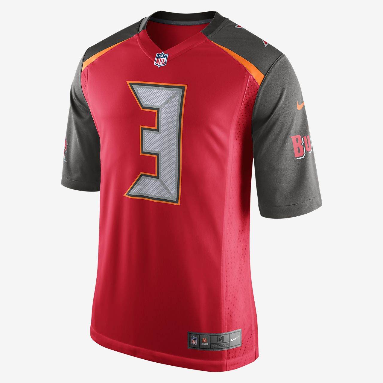1bf2d4a780f6 ... NFL Tampa Bay Buccaneers (Jameis Winston) Men s Football Home Game  Jersey