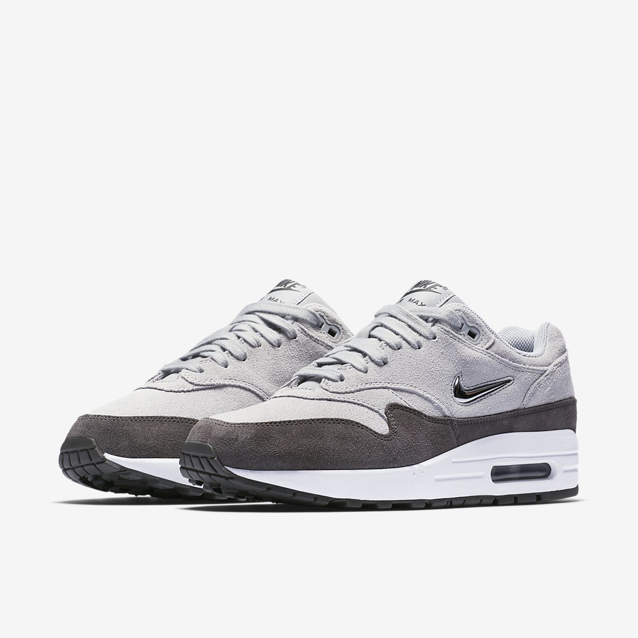 red grey womens nike air max 1 premium shoes. Black Bedroom Furniture Sets. Home Design Ideas