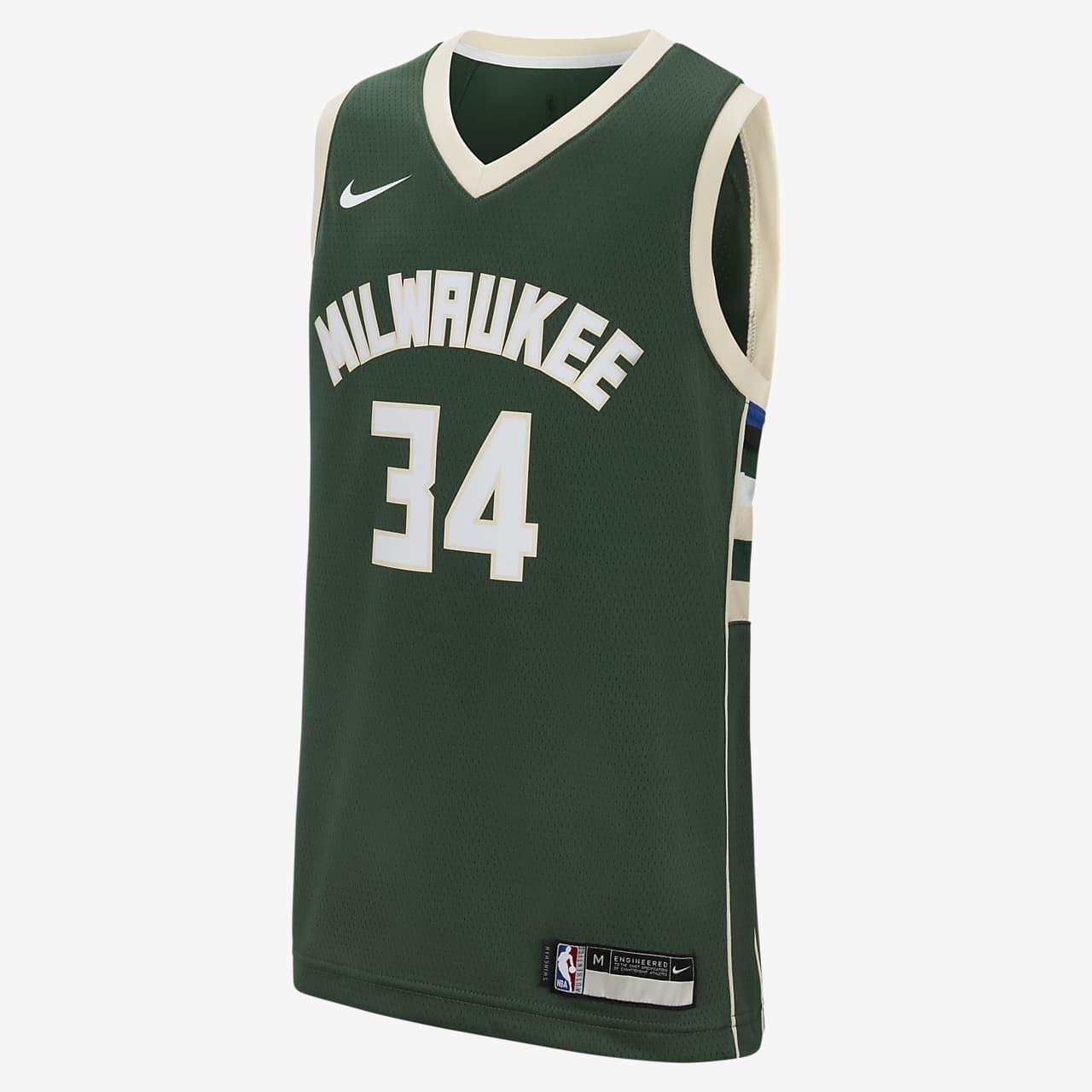 Icon Edition Swingman Jersey (Milwaukee Bucks) – Nike NBA trøje til store børn
