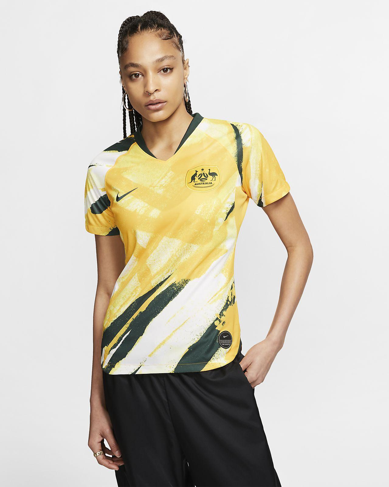 Camiseta de fútbol para mujer Australia 2019 Stadium Home