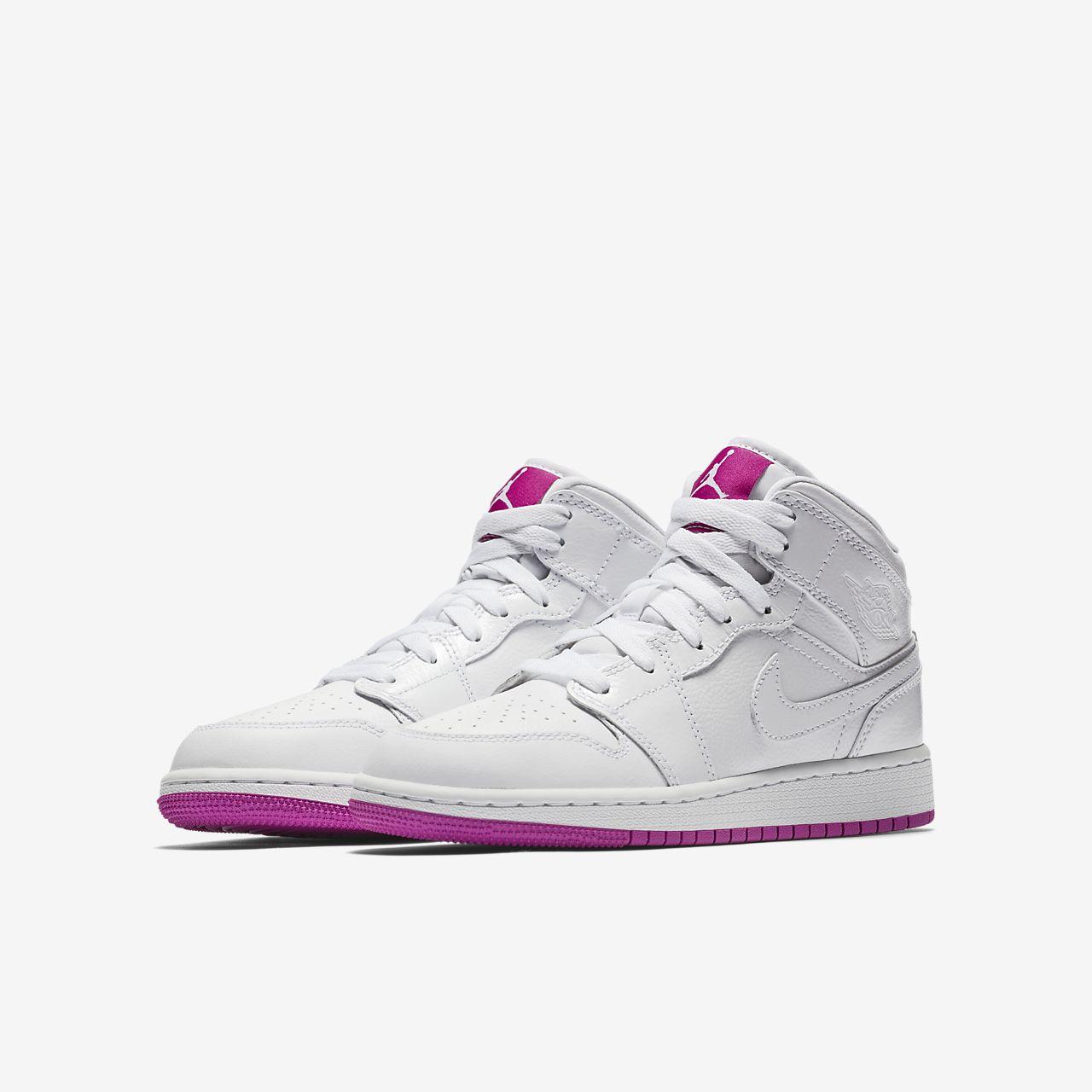 ... Air Jordan 1 Mid Big Kids' Shoe
