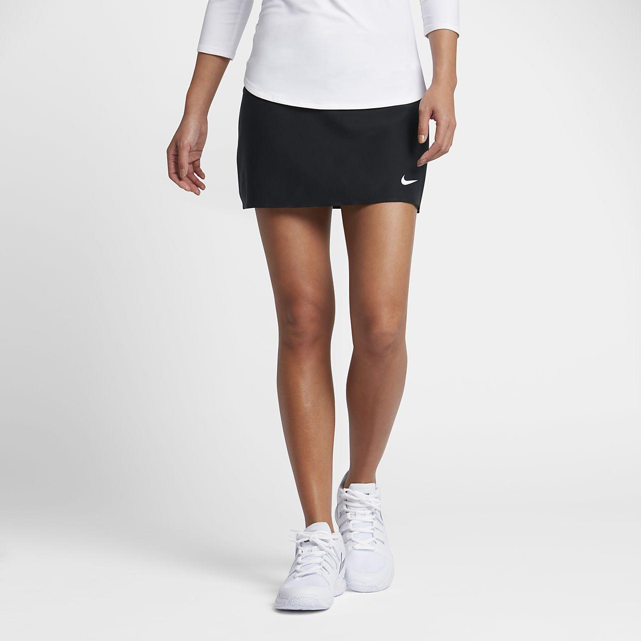 Nike court power kleid damen weib schwarz