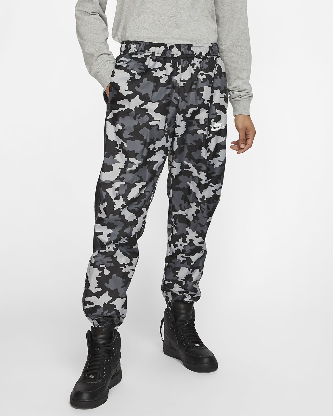 Nike Sportswear Men's Woven Camo Tracksuit Bottoms