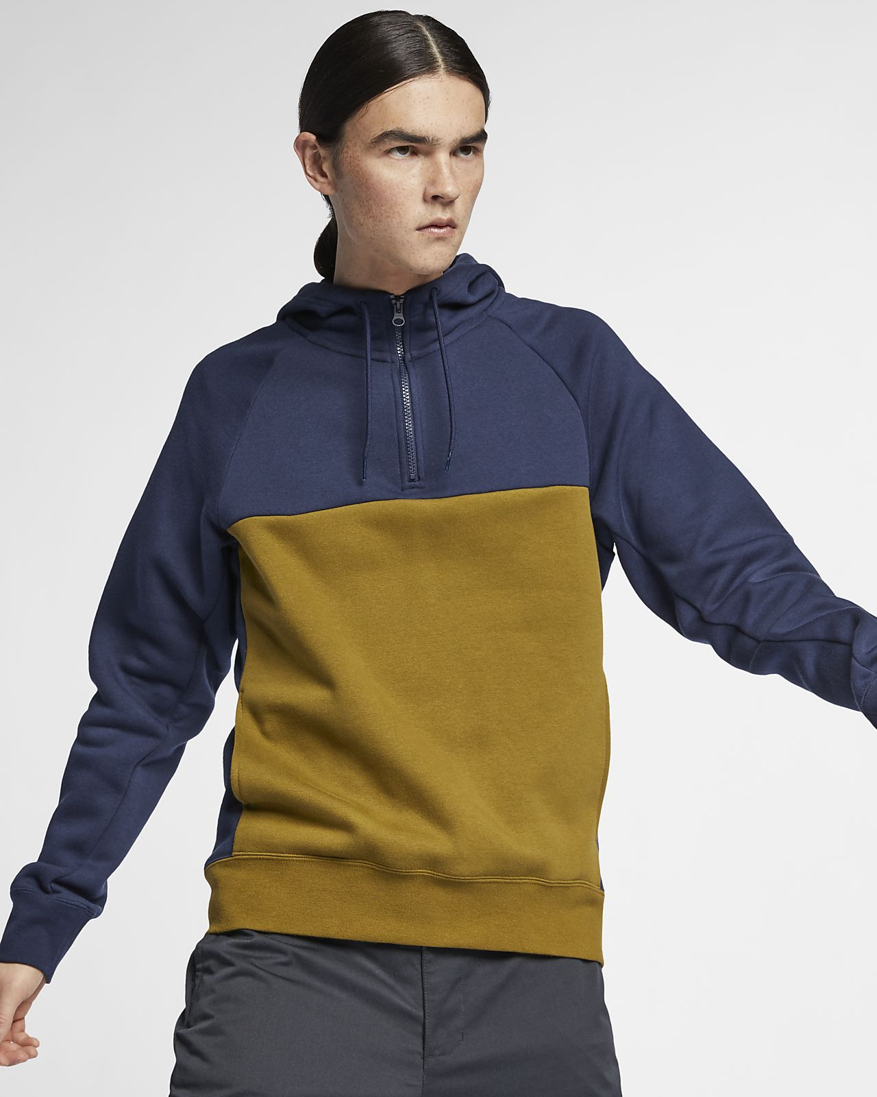 Sweat à capuche de skateboard demi-zippé Nike SB Icon pour Homme ... dfd8e4079302