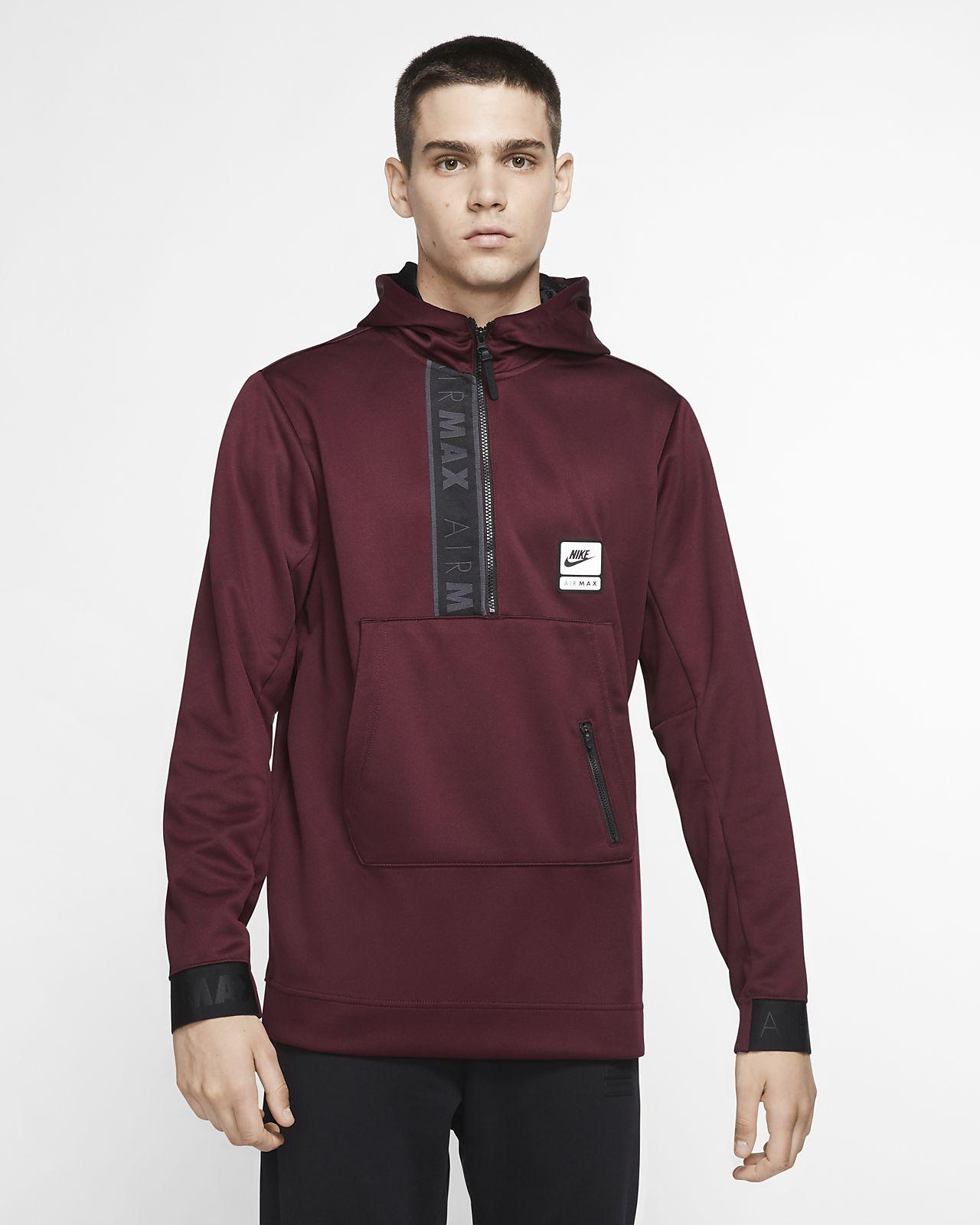 Nike Sportswear Air Max-hættetrøje med halv lynlås til mænd