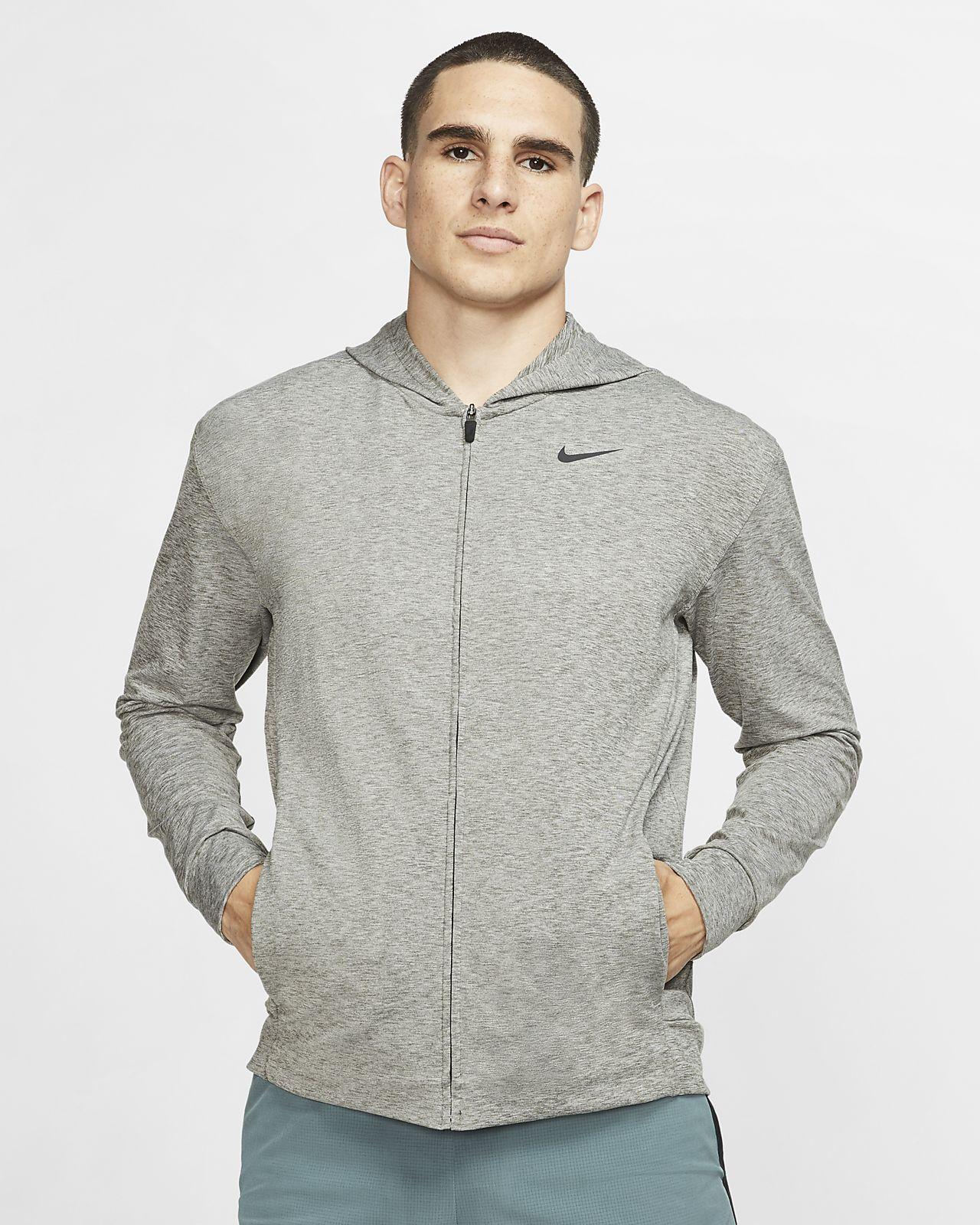 Męska rozpinana bluza treningowa z kapturem do jogi Nike Dri-FIT