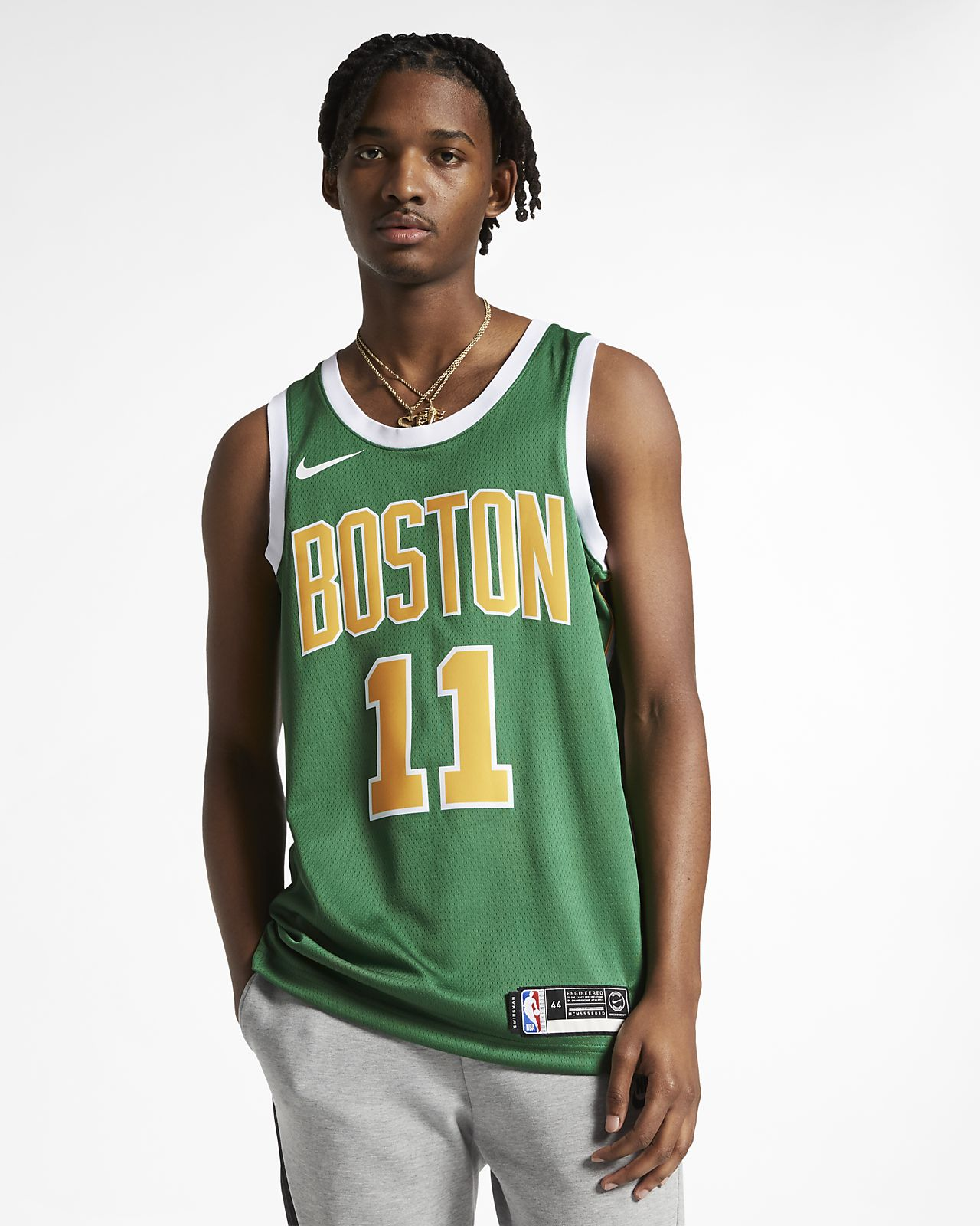 Kyrie Irving Earned City Edition Swingman (Boston Celtics) Nike NBA Connected Jersey för män