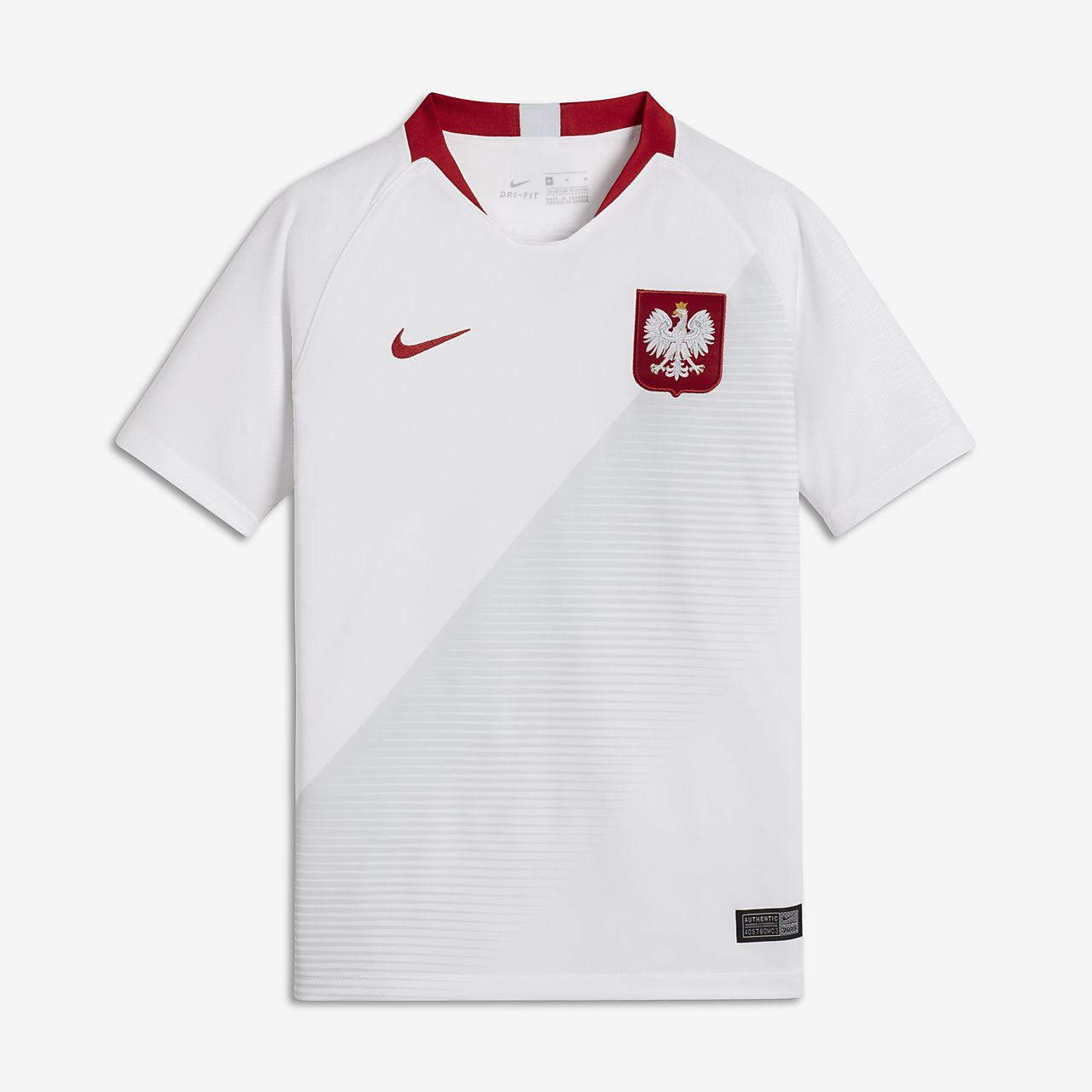 Camiseta de fútbol para niños talla grande 2018 Poland Stadium Away