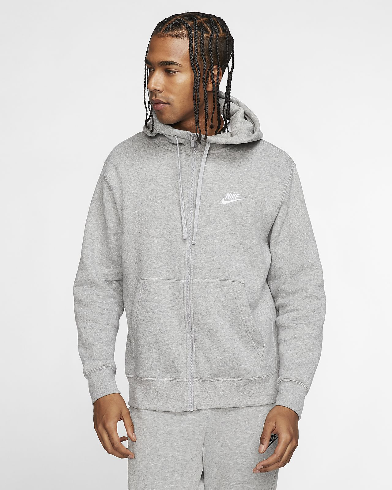 nike club 19 full-zip felpa con cappuccio