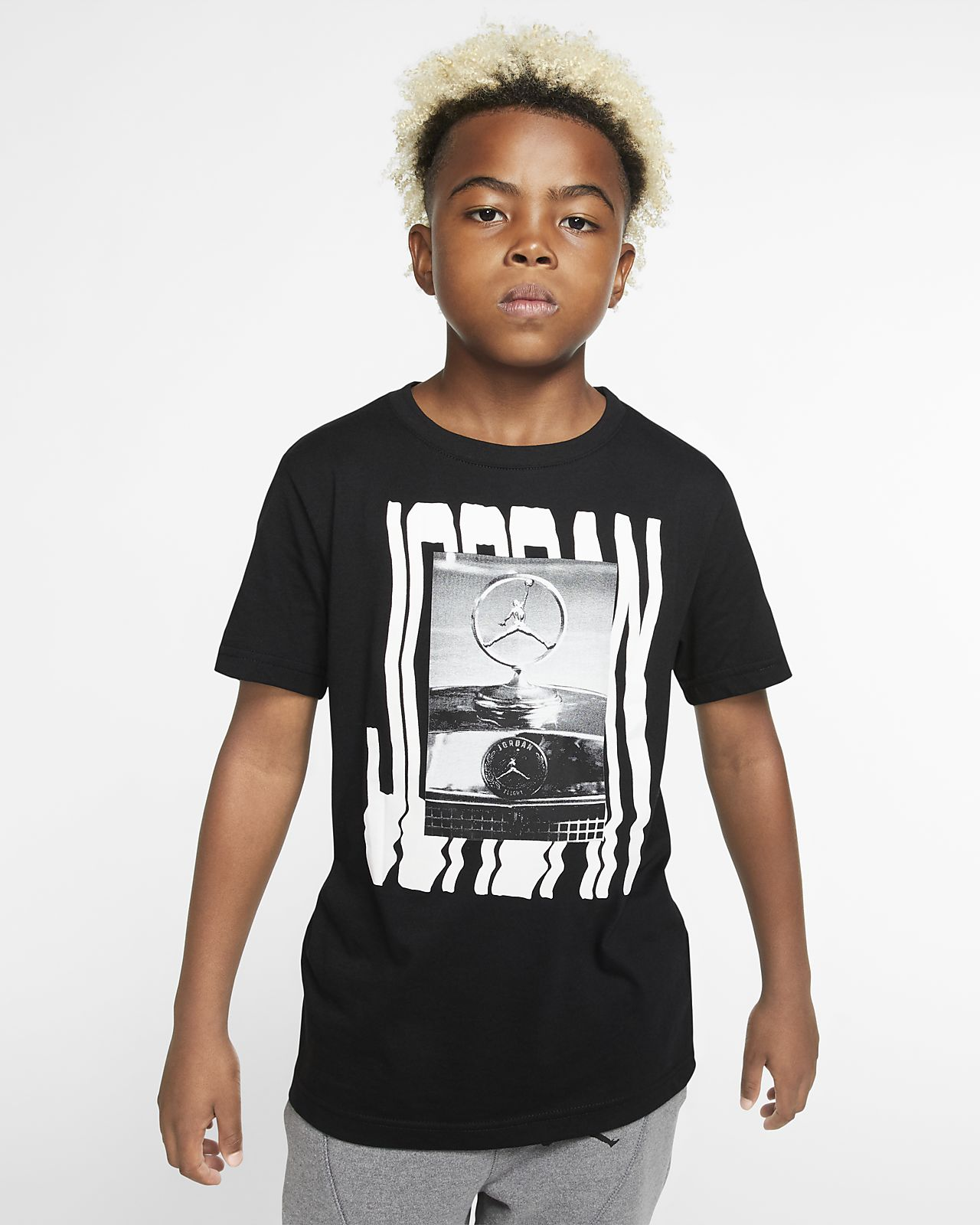 Kortærmet Jordan Jumpman-T-shirt til store børn (drenge)