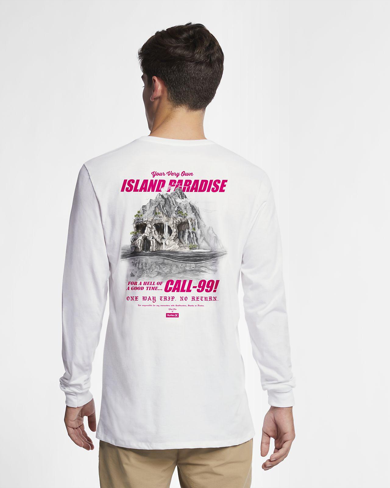 À Pour Island Longues Skull Tee Homme Hurley Premium Manches Shirt Sn8qwCxU57