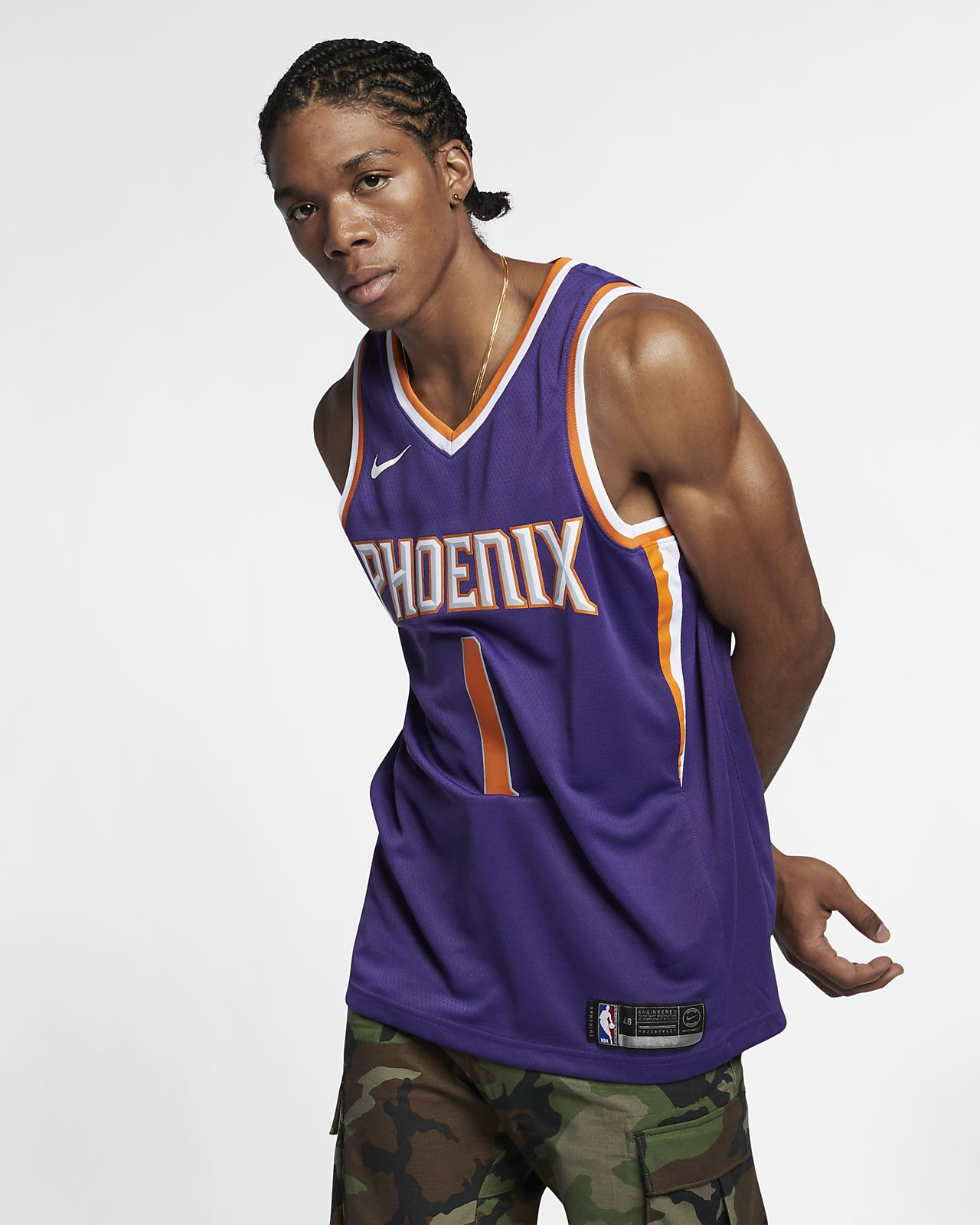Devin Booker Icon Edition Swingman (Phoenix Suns) Men's Nike NBA Connected Jersey