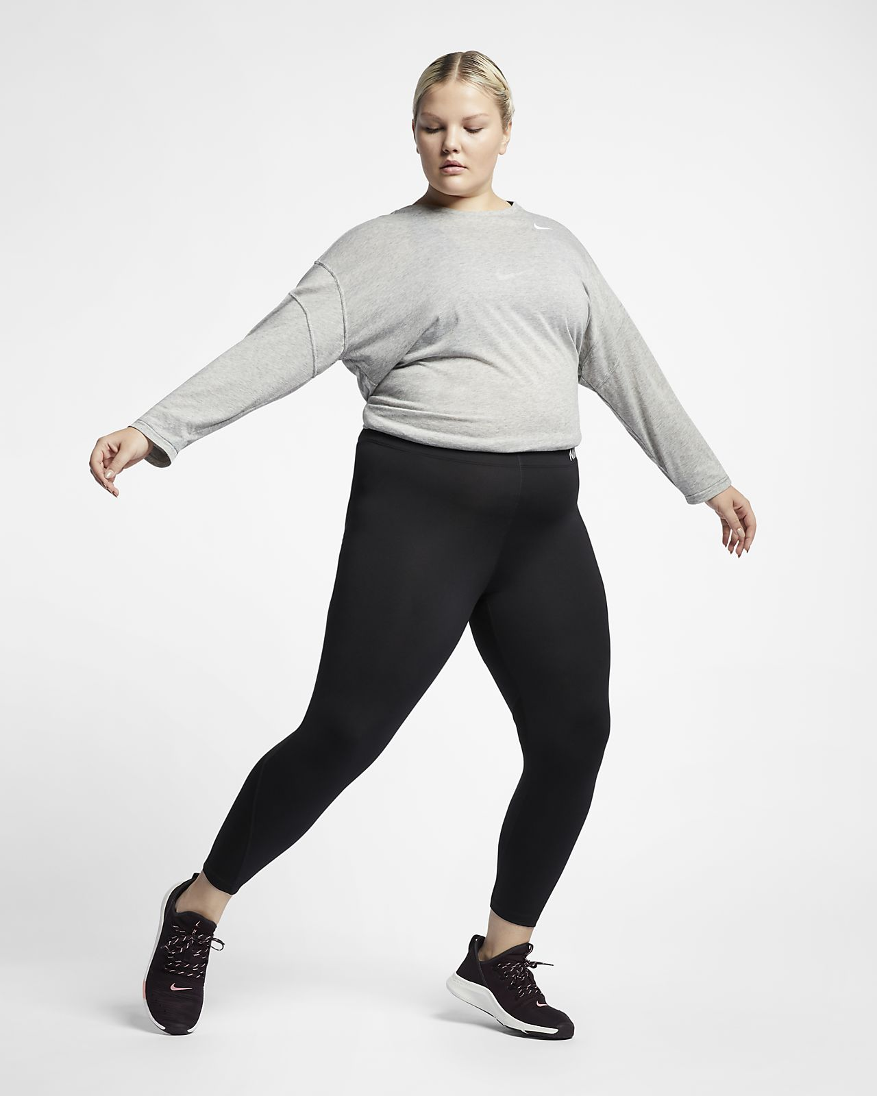 76161e445d640 Nike Pro Women s Mid-Rise Training Capris (Plus Size). Nike.com BG