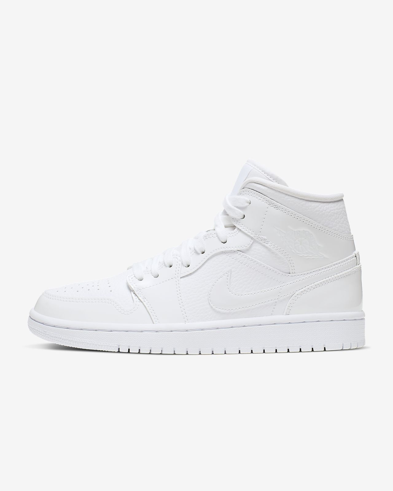 all white jordan ones