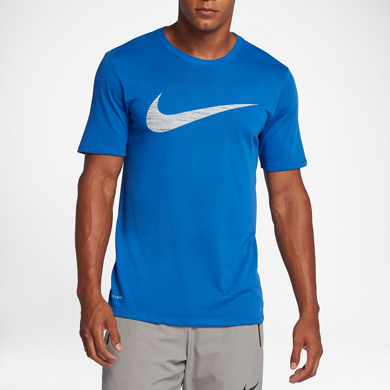 Nike Dry Swoosh Men's Training T-Shirts Black/White