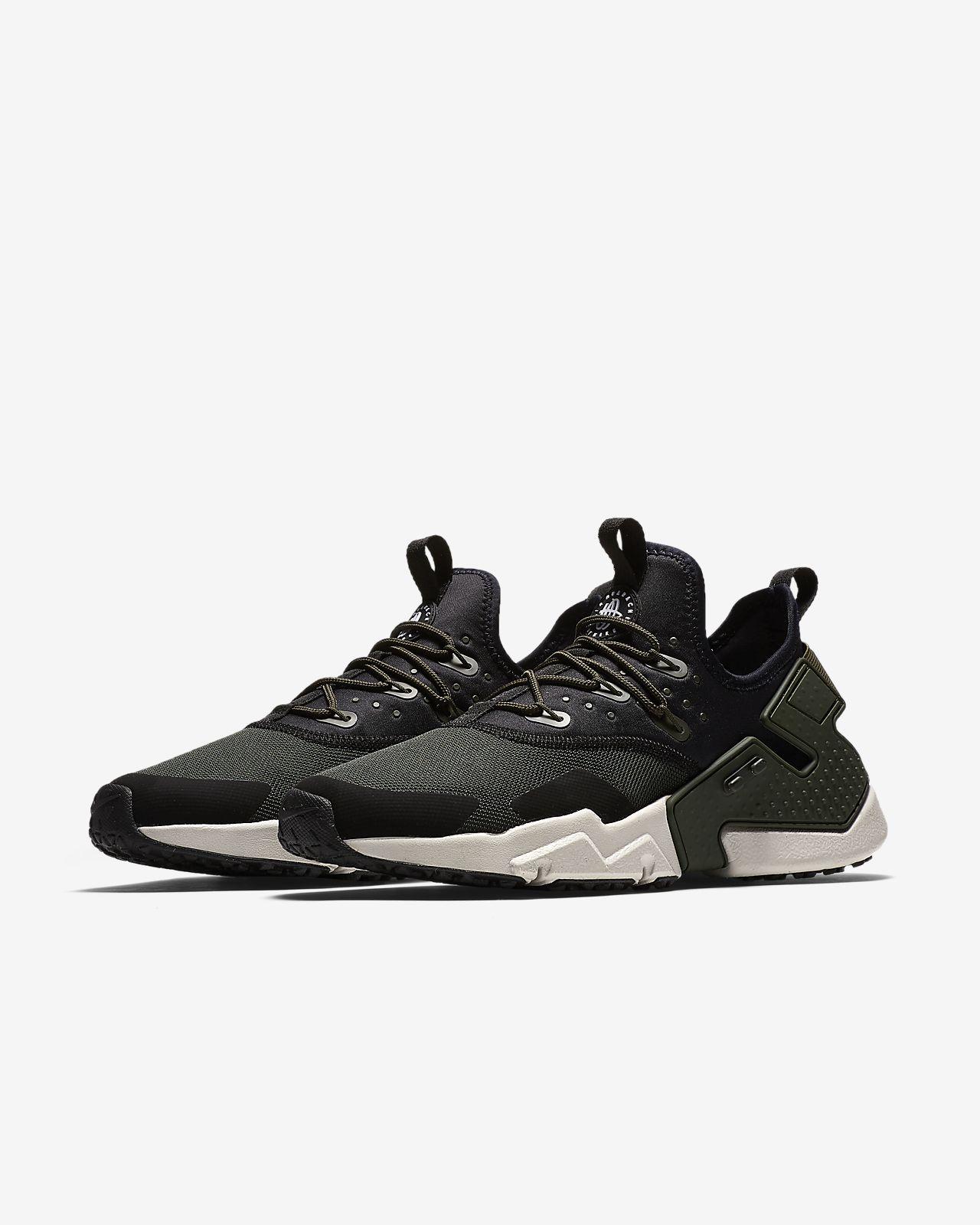 Nike Men's Air Huarache Drift Shoe, Scarpe da Ginnastica Uomo, Nero (Black/White 003), 45 EU