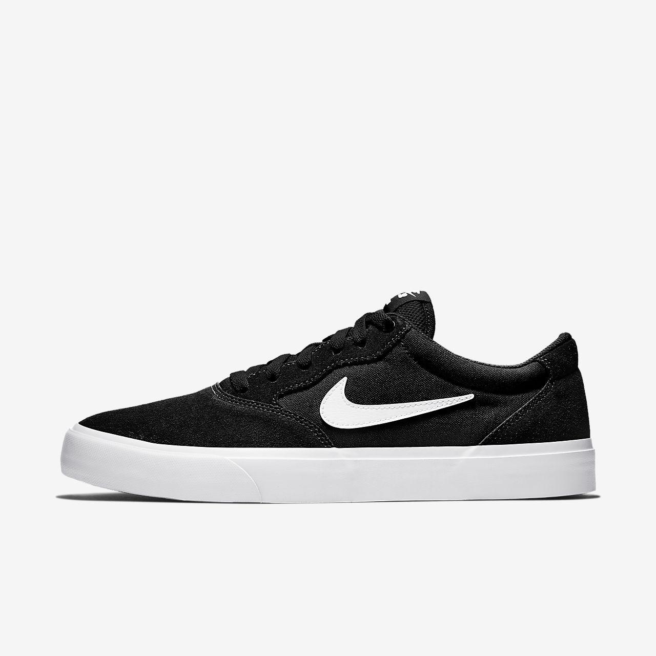 nike sb charge slr skate shoes - black/white
