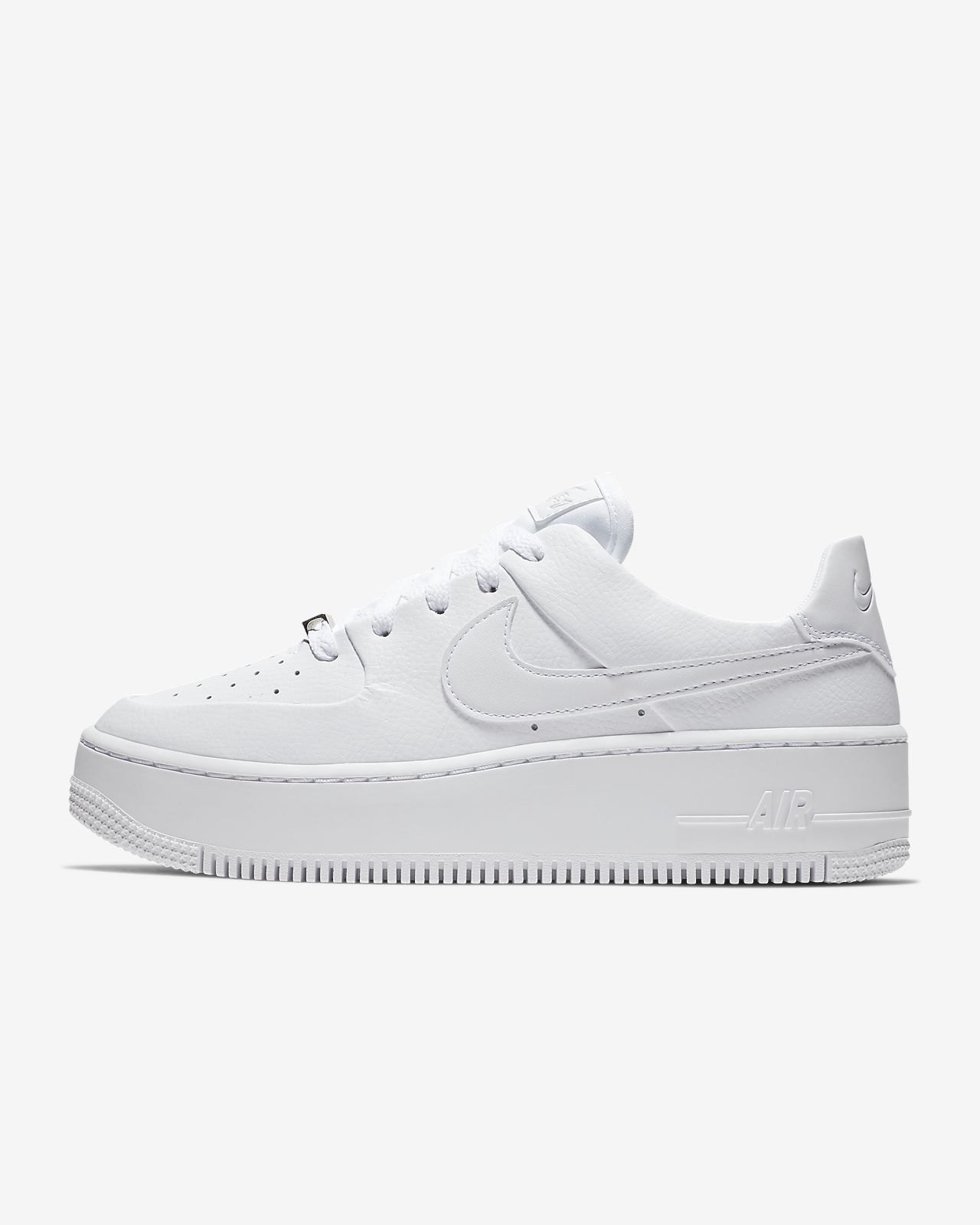 Womens Nike AF1 Air Force 1 Sage Low White Pink For Sale