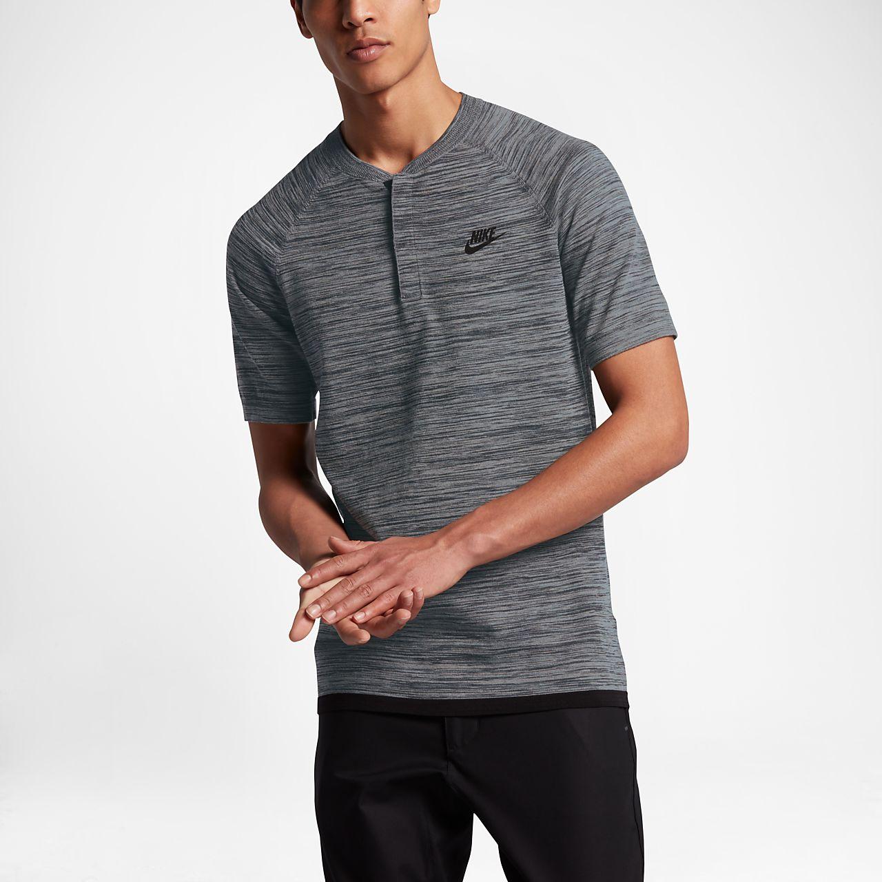 Nike Sportswear Tech Knit Men's Polo Shirts Carbon Heather/Black/Cool Grey