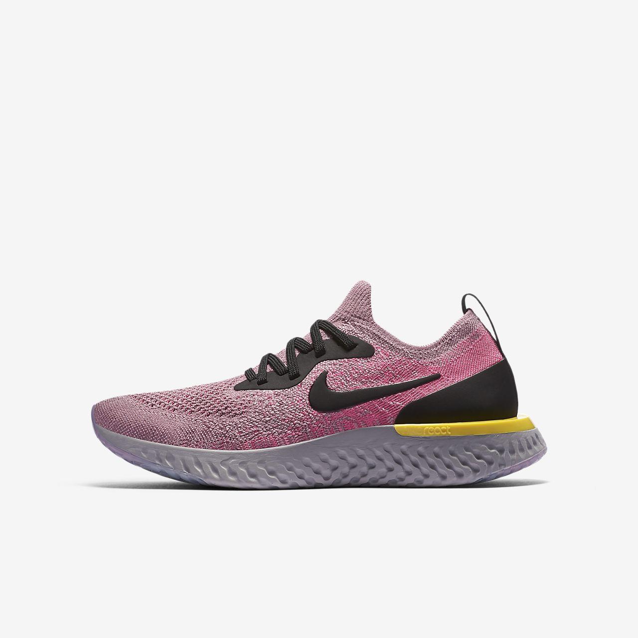 Nike Epic React Flyknit 1-løbesko til store børn