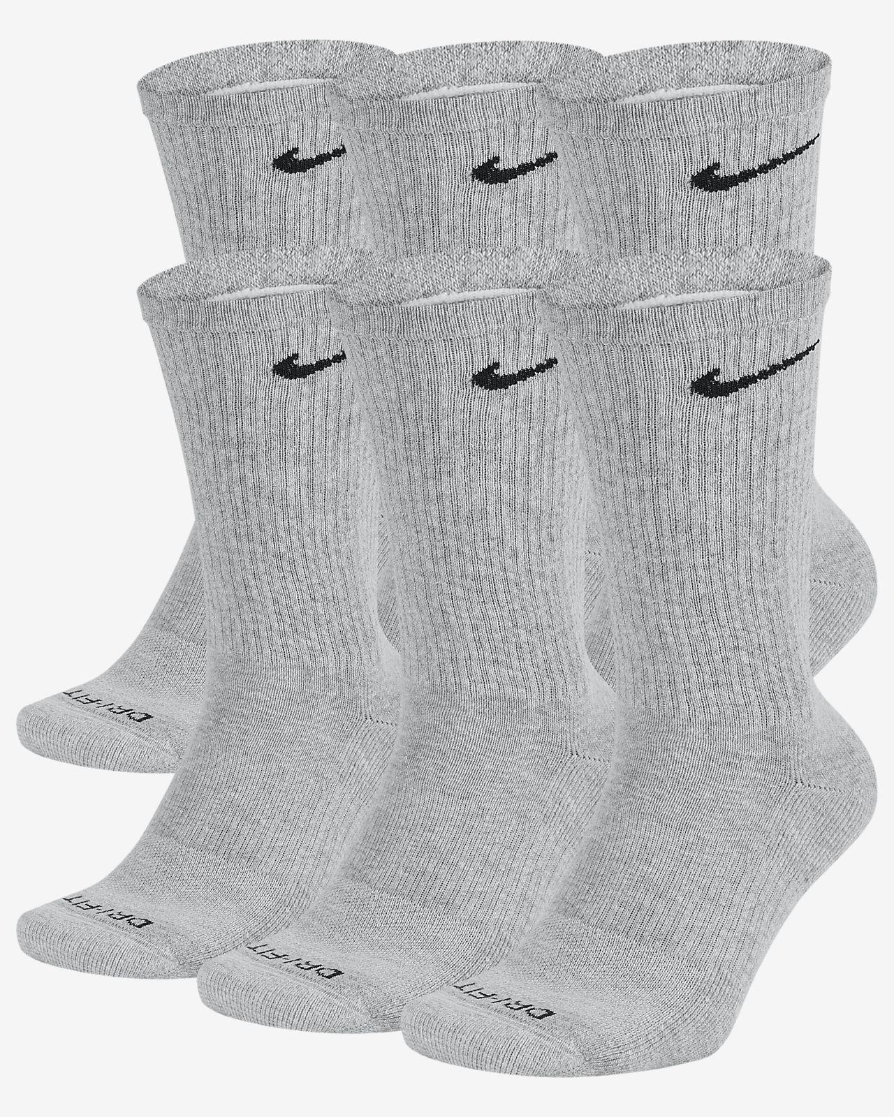 b3261a402474d Nike Everyday Plus Cushion Crew Training Socks (6 Pair)