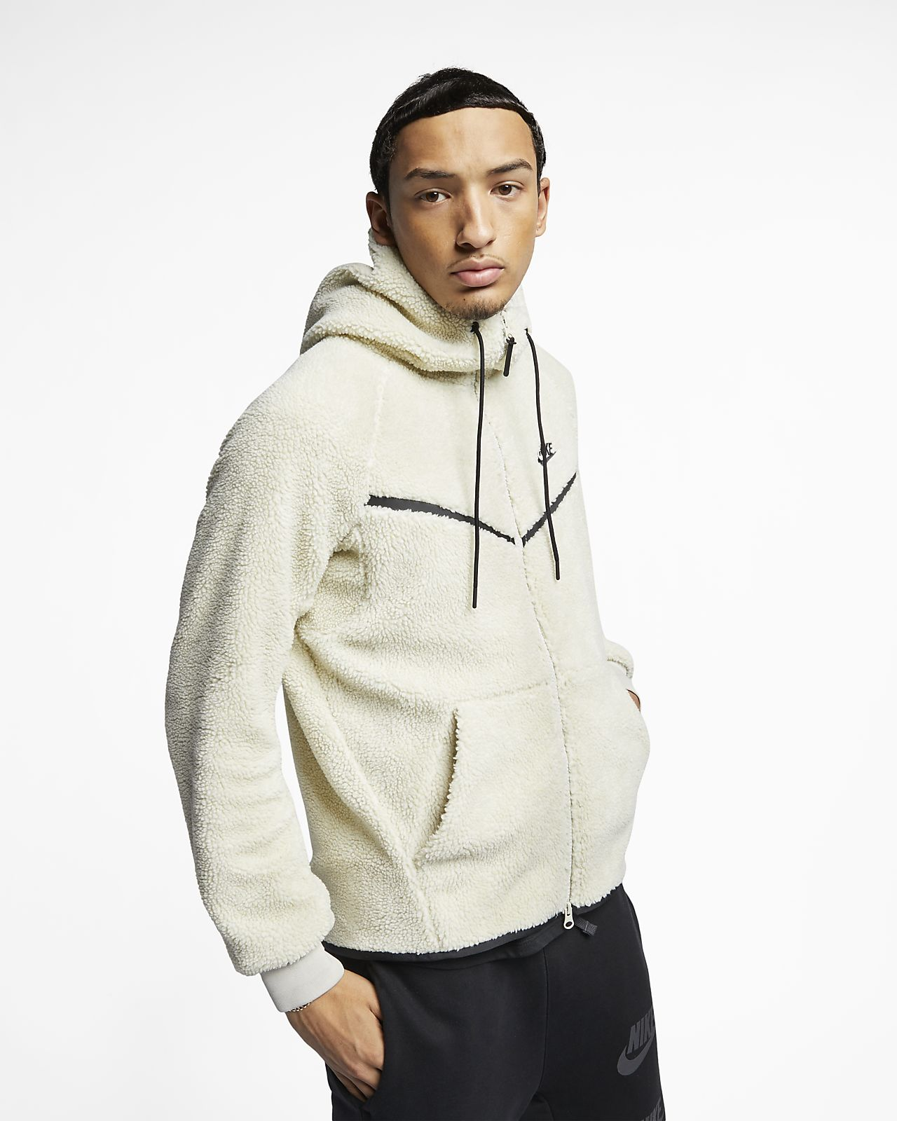 Nike Sportswear Windrunner Tech Fleece Men's Sherpa Hoodie