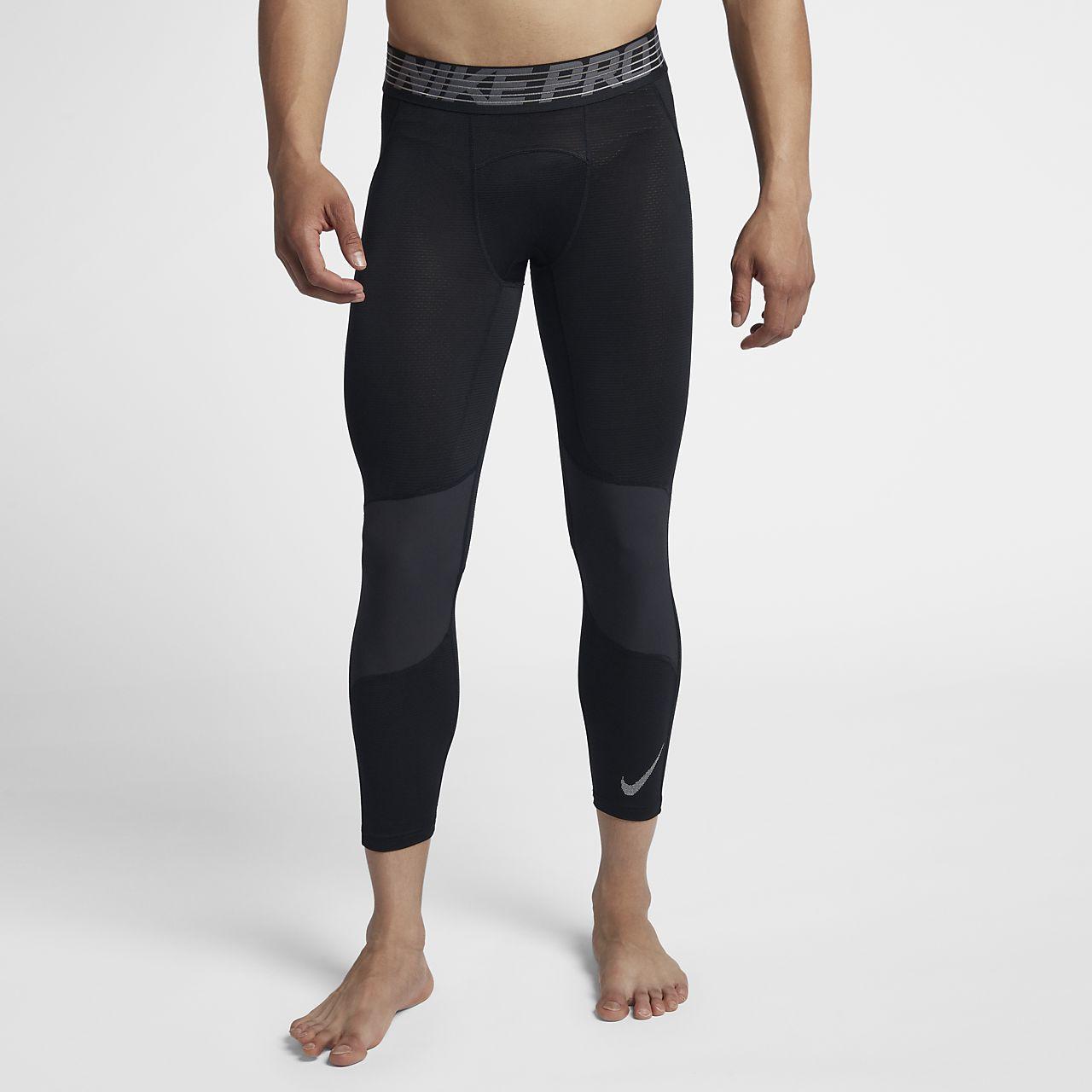กางเกงรัดรูปบาสเก็ตบอลสามส่วนผู้ชาย Nike Pro HyperCool