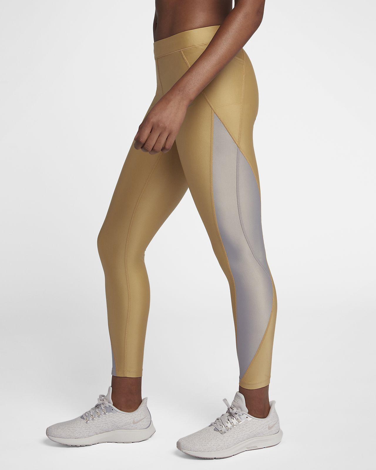 37efd871204be Nike Speed Women's 7/8 Mid-Rise Metallic Running Tights. Nike.com LU