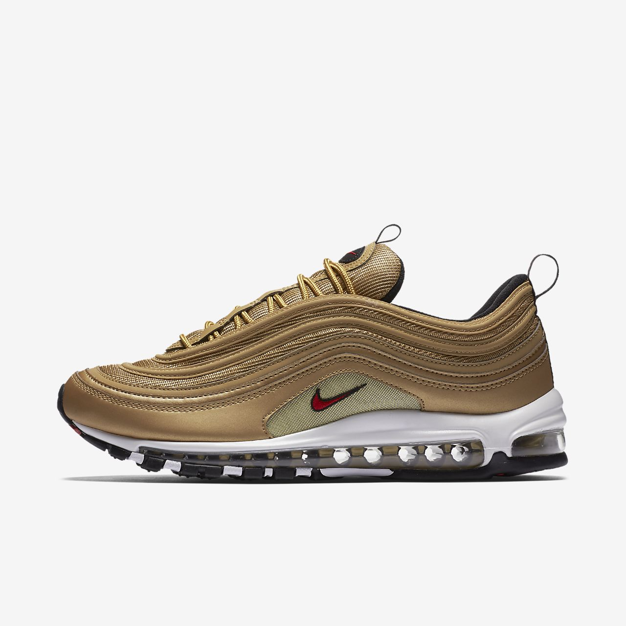 mens nike air max 97 metallic gold nz