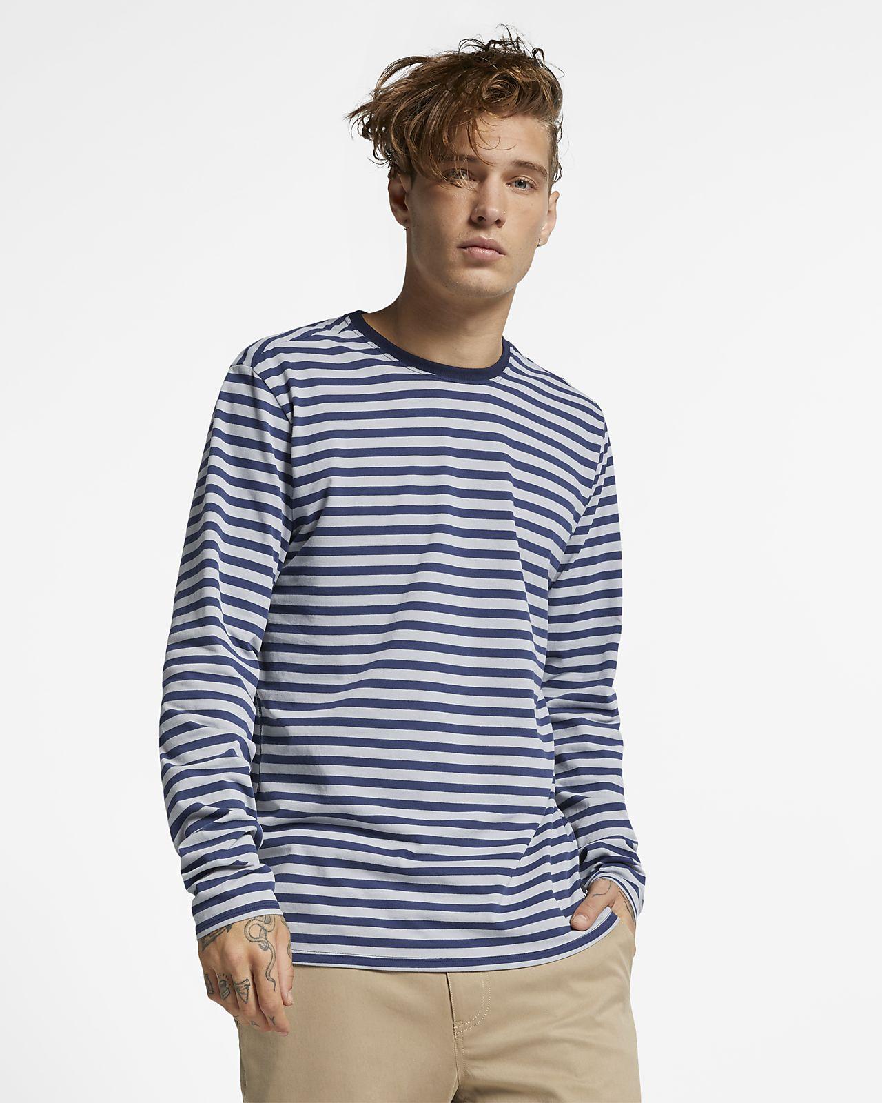 Hurley Dri-FIT Harvey Men's Long-Sleeve Striped Top
