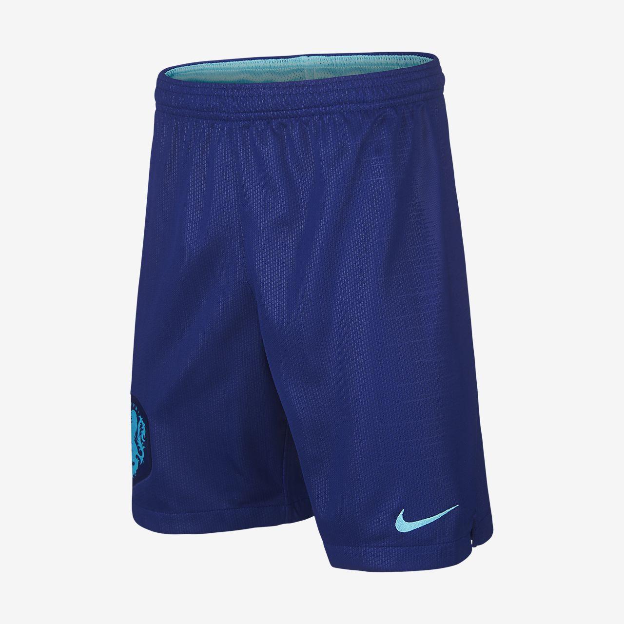 ab3a628a184 ... Shorts de fútbol para niños talla grande 2018 Netherlands Stadium Away