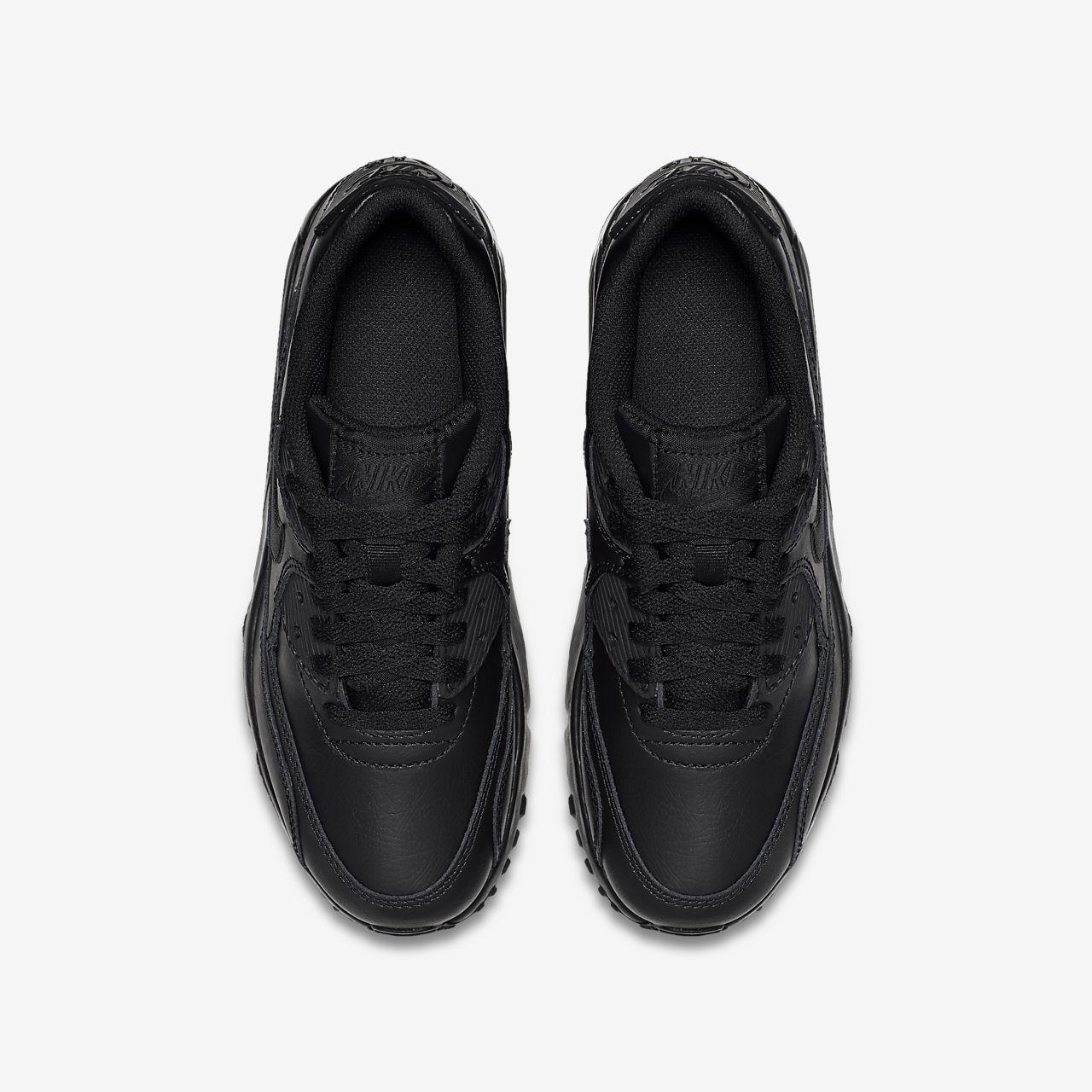 Nike Air Max 90 Leather Sneakers BlackBlack