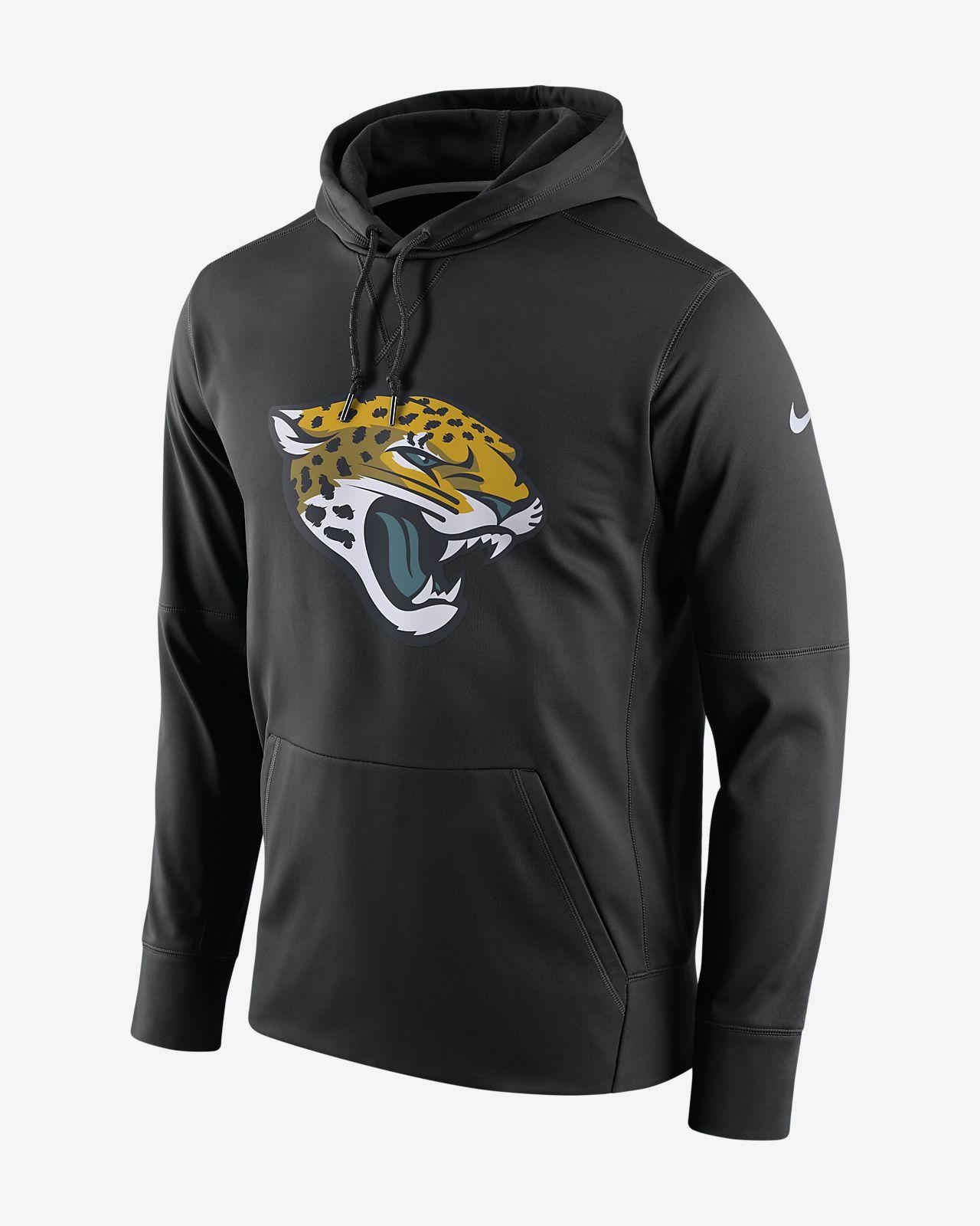 Ανδρική μπλούζα με κουκούλα Nike Dri-FIT (NFL Jaguars)