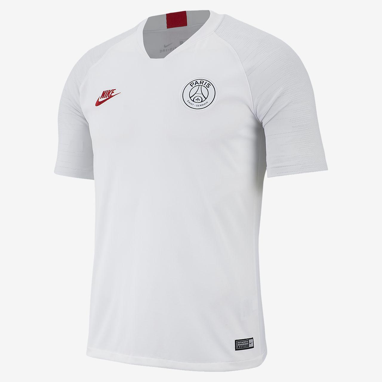 Kortærmet Nike Breathe Paris Saint-Germain Strike-fodboldoverdel til mænd