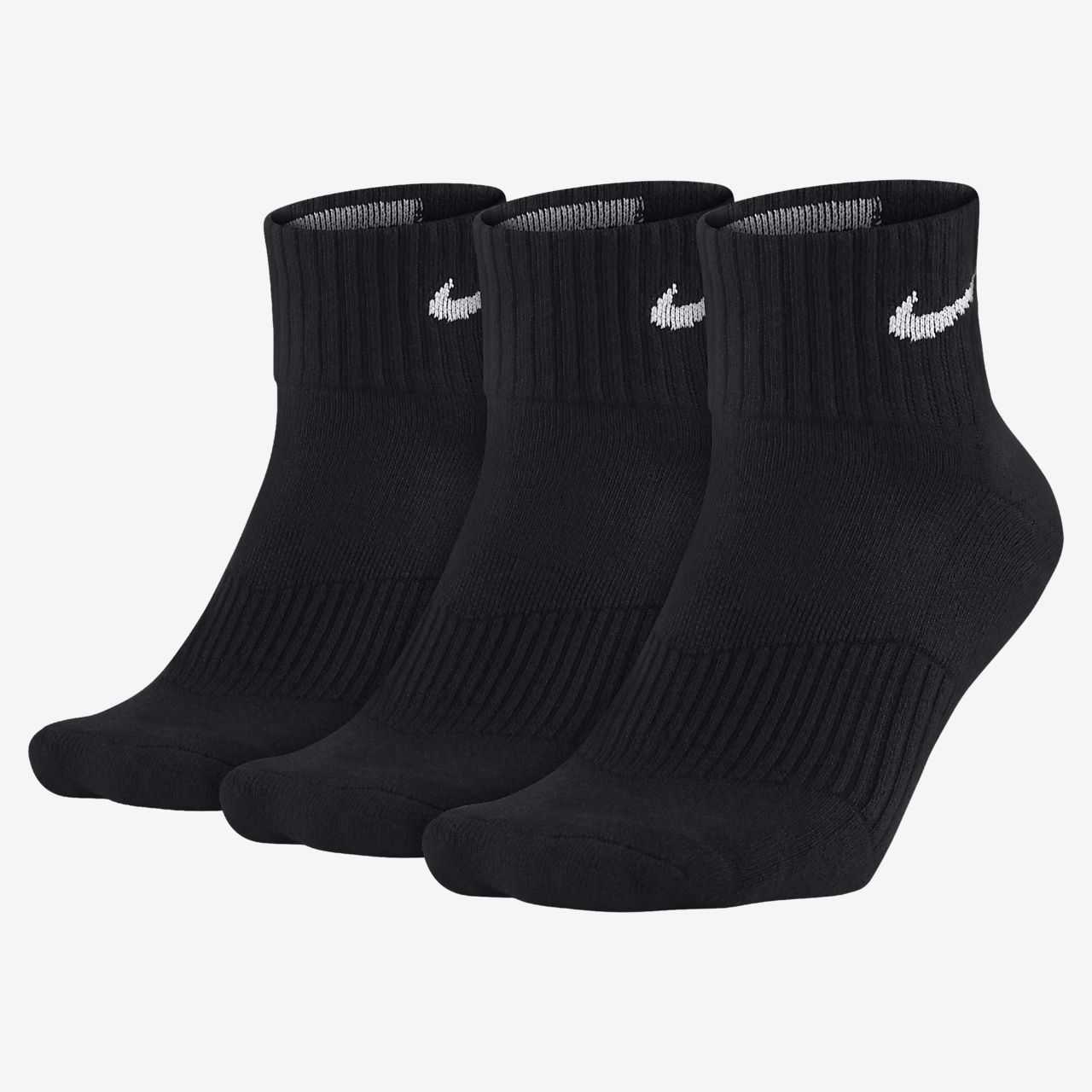 Nike Cotton Cushion Quarter Sokken (3 paar)