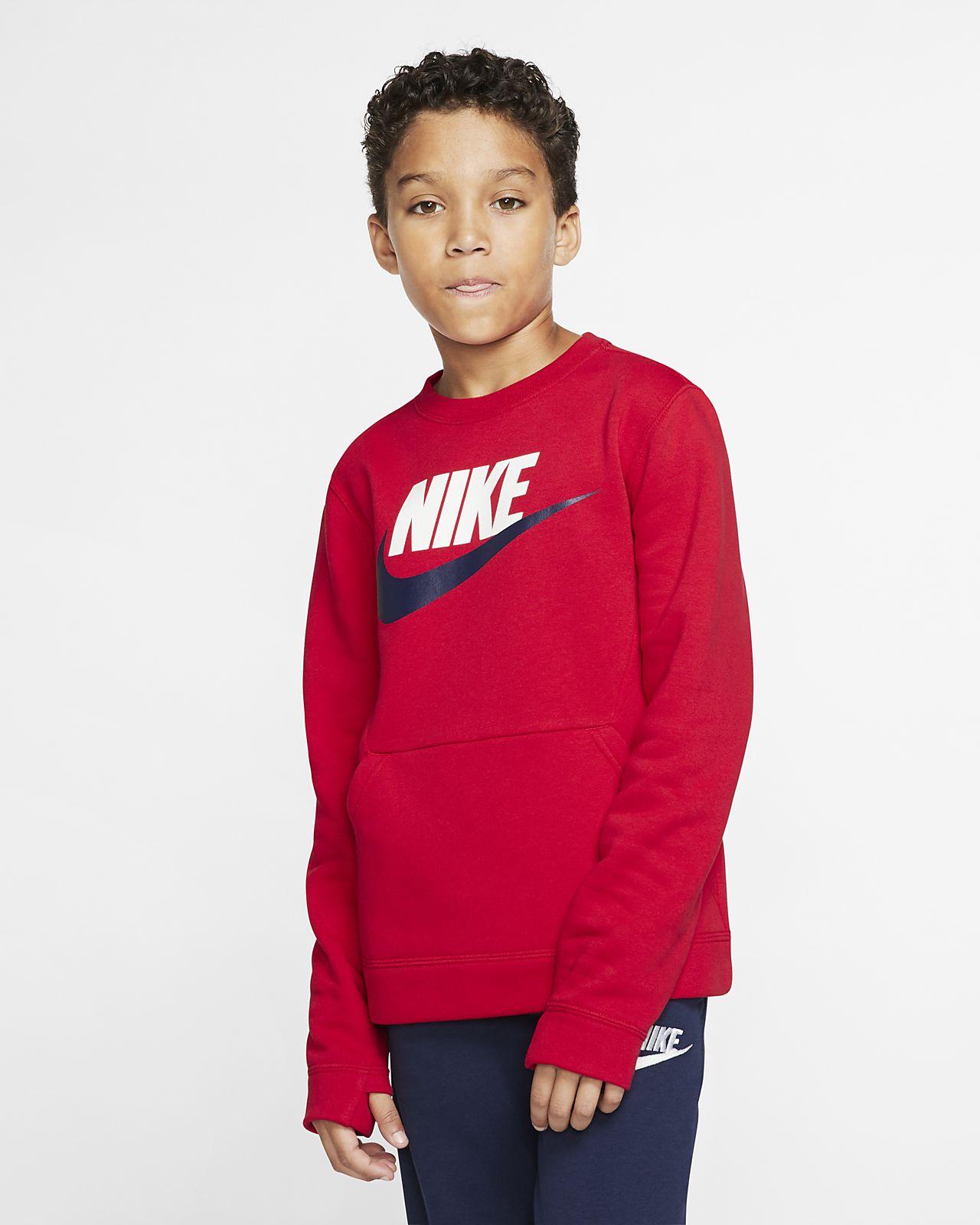 Nike Sportswear Club Fleece Rundhalsshirt für ältere Kinder